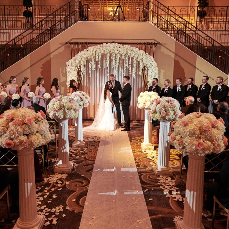 Palace at somserset park indoor wedding ceremony photo