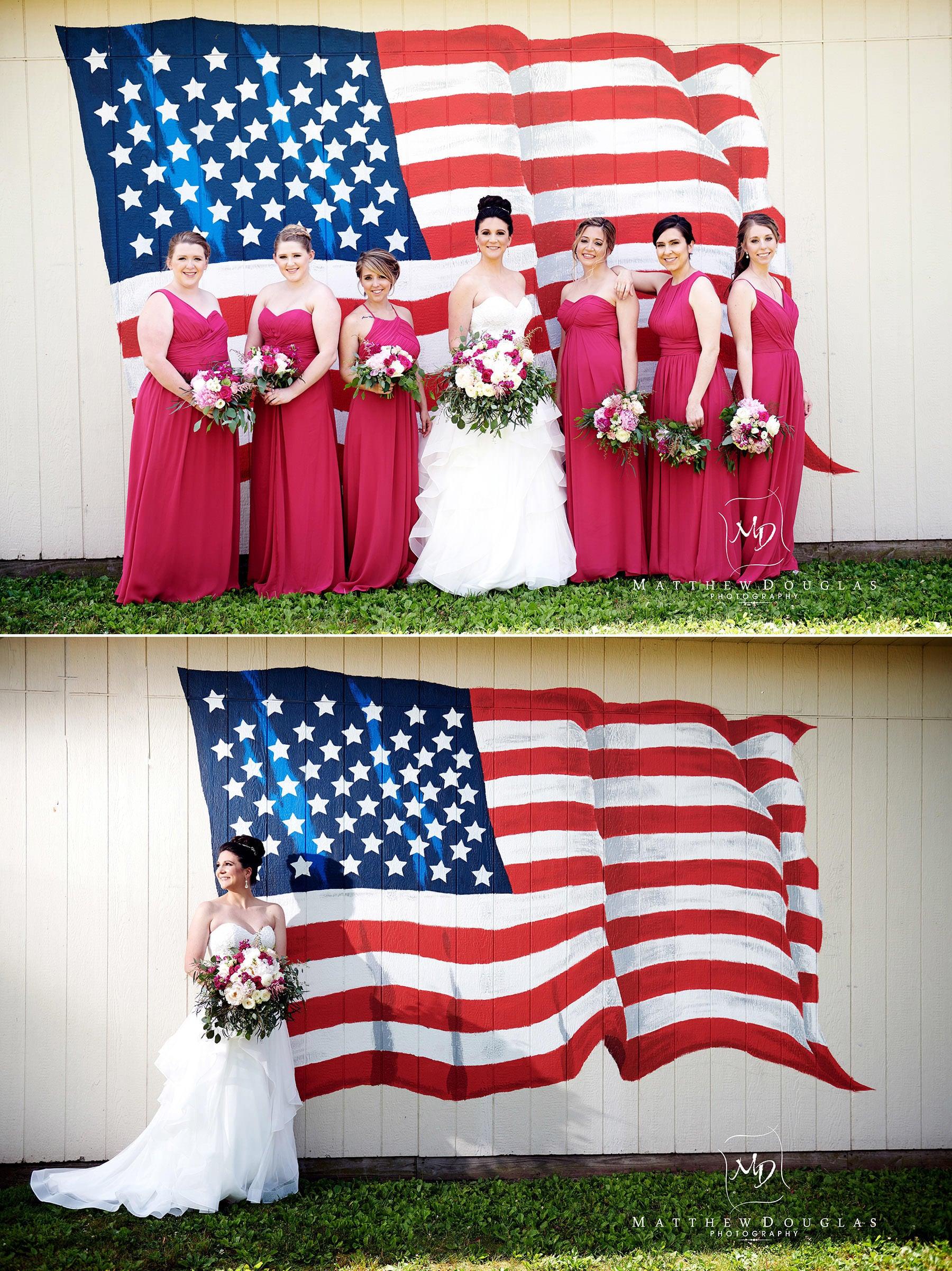bridesmaids photo before wedding