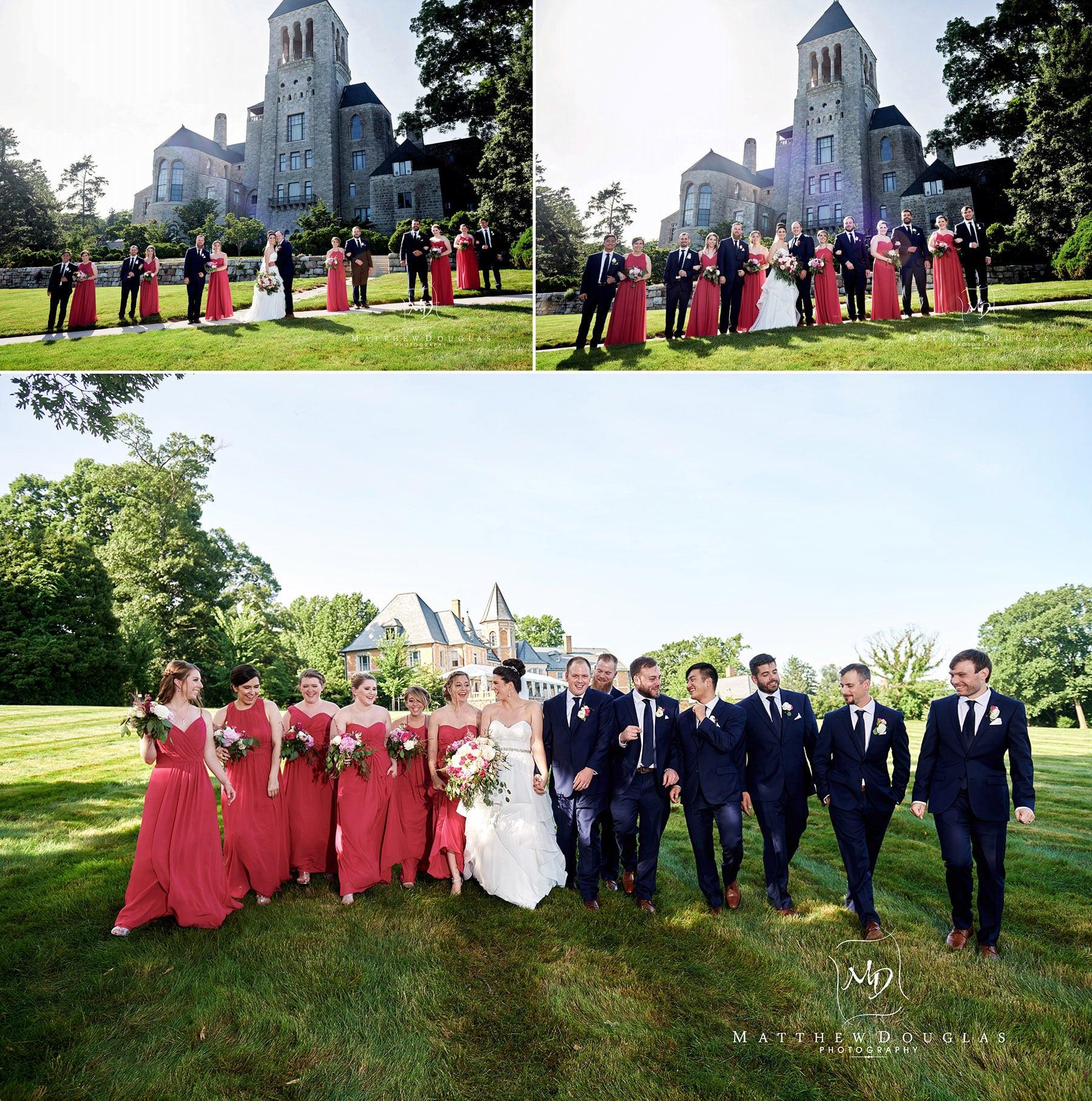 cairnwood estate wedding bridal party photo