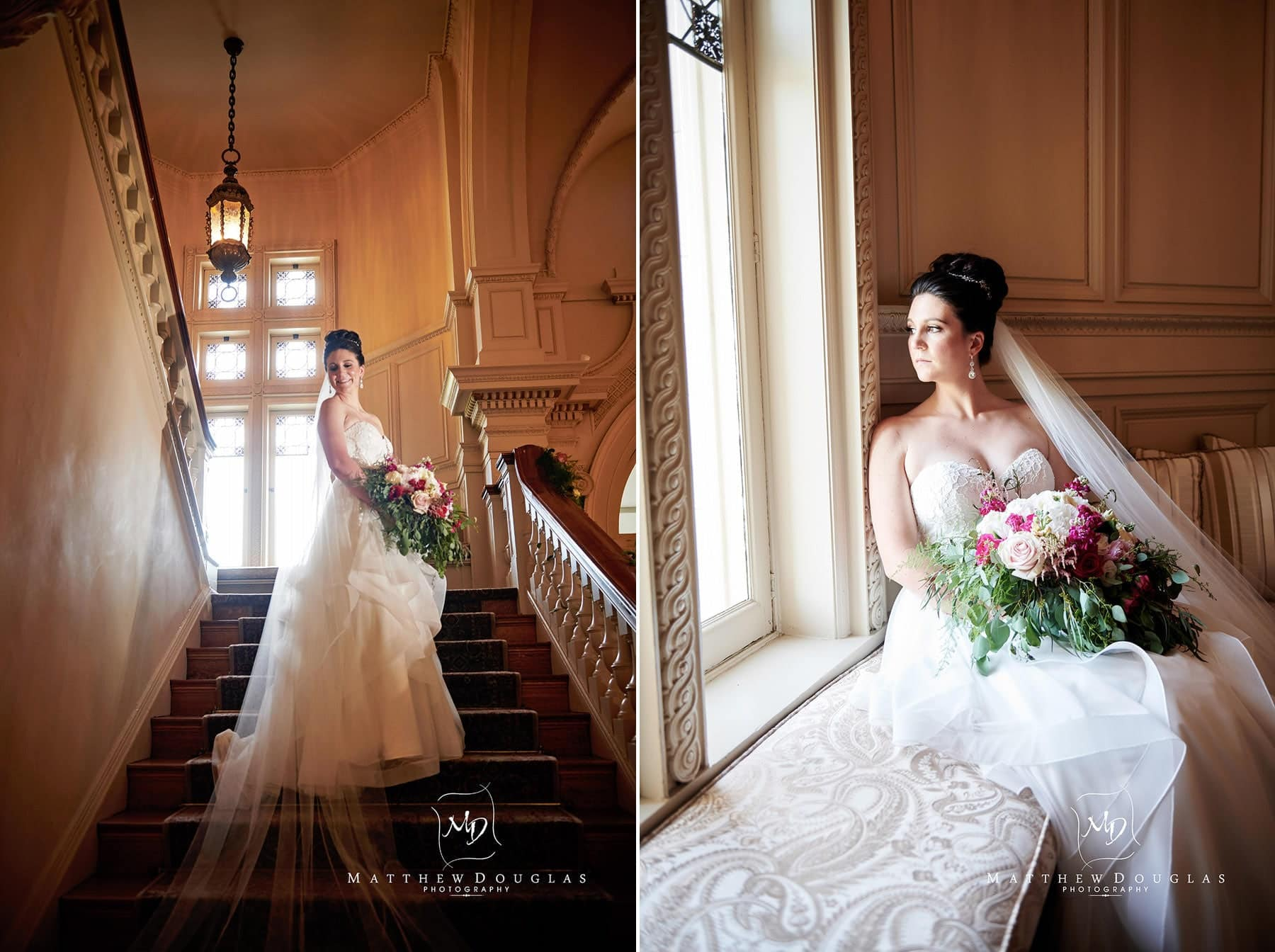 cairnwood estate wedding bride on staircase