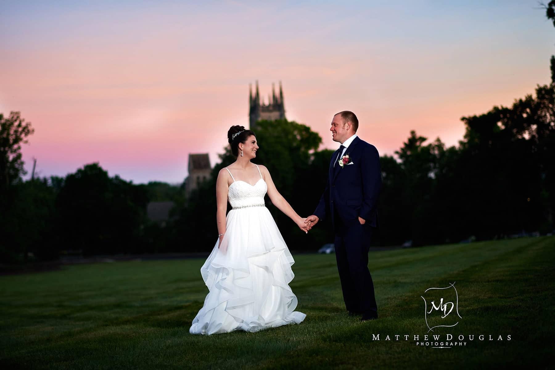 cairnwood estate wedding summer sunset photo