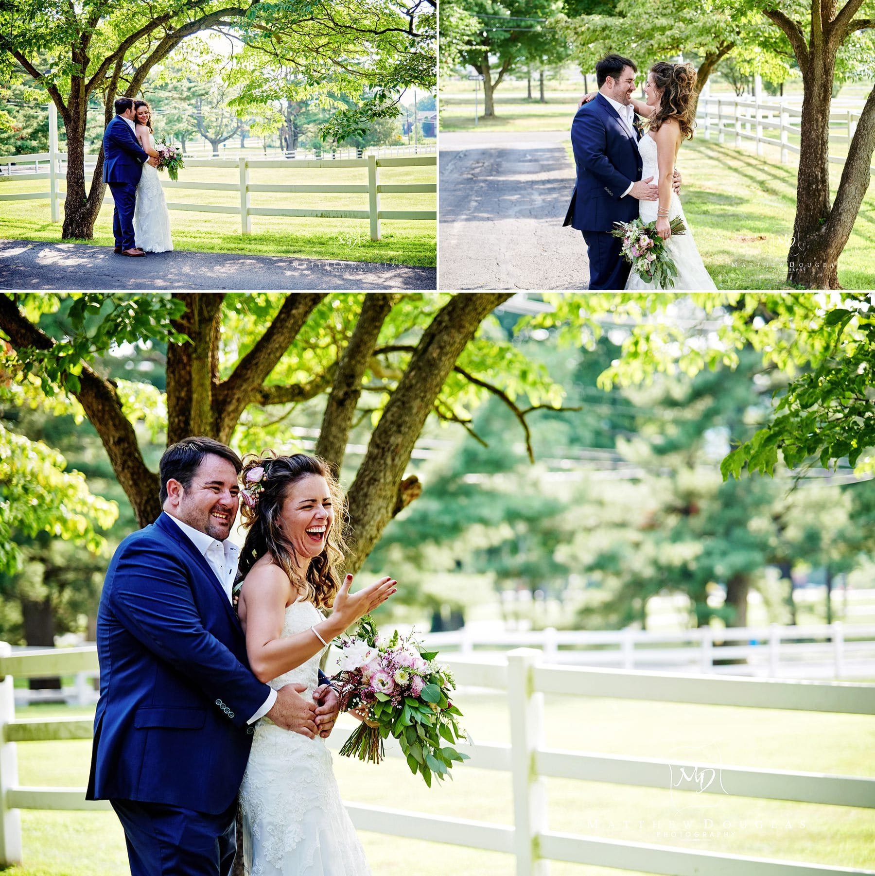 fun wedding photos at the ryland inn
