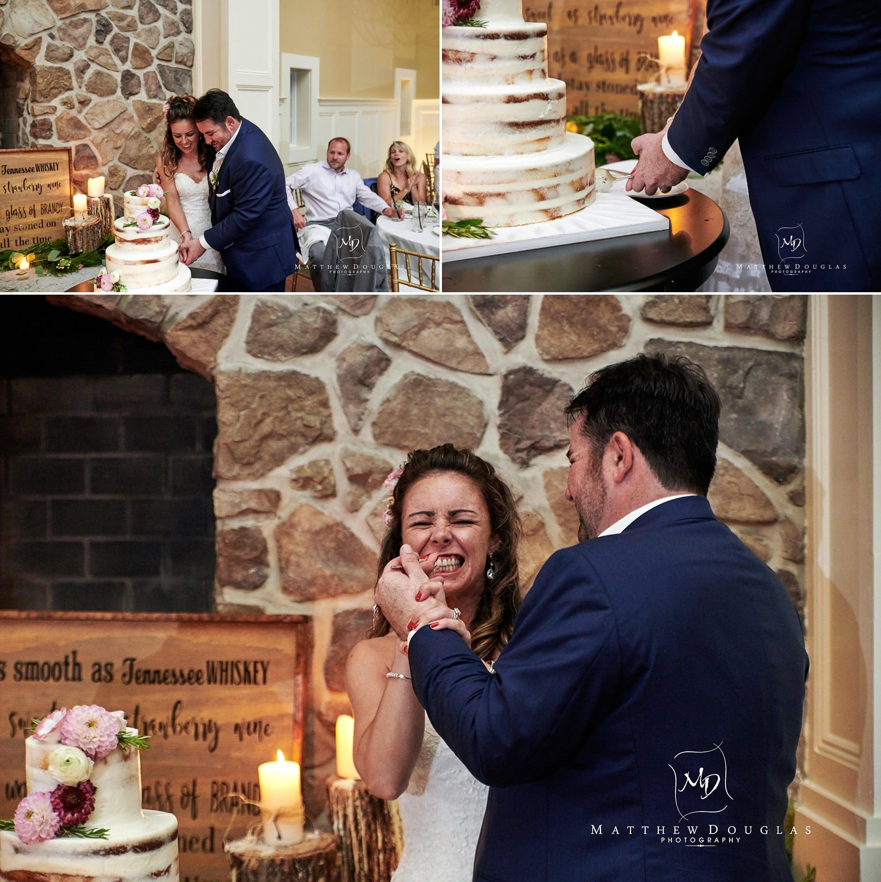 ryland inn wedding cake cutting