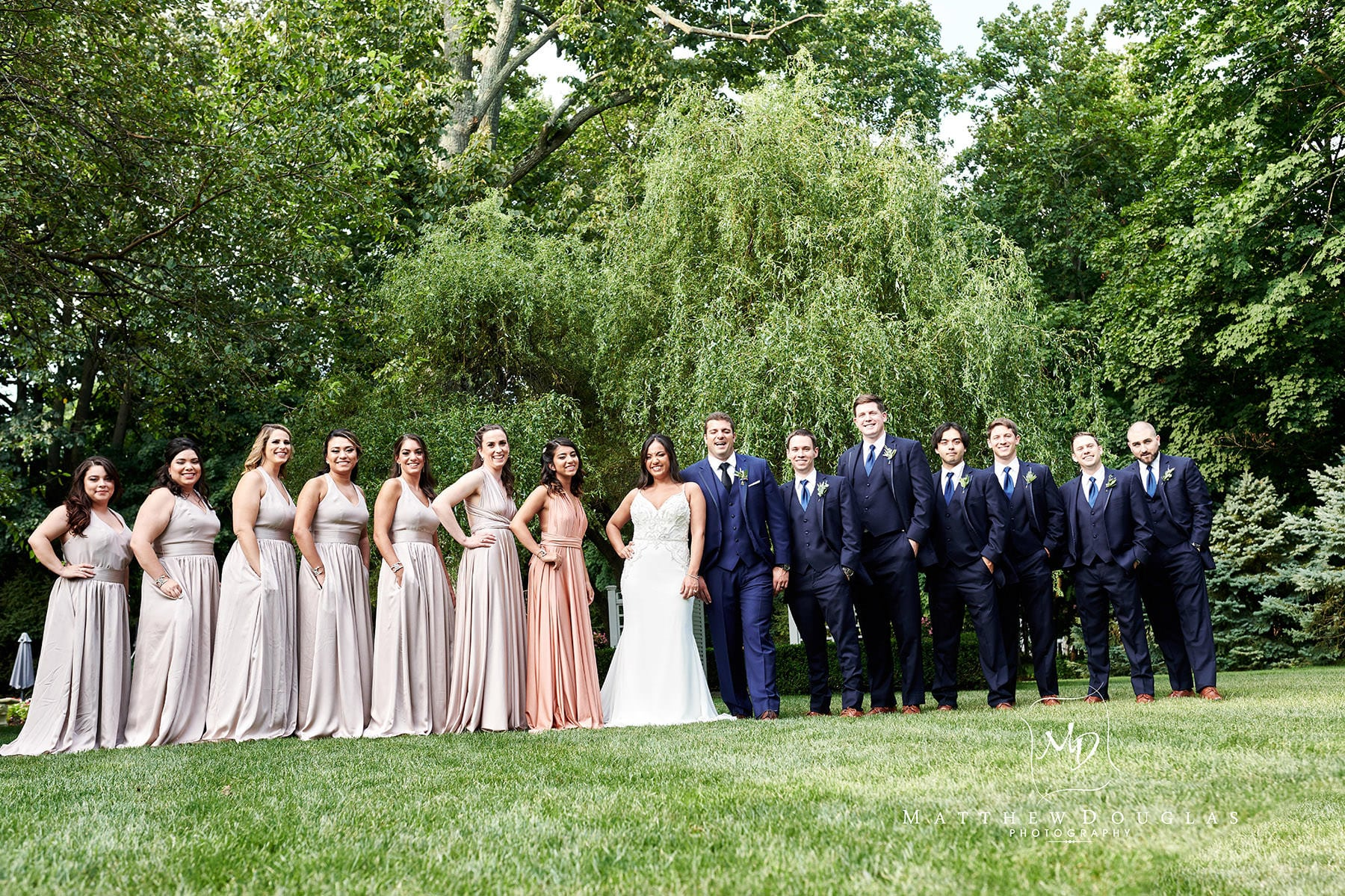 shadowbrook nj wedding bridal party photo