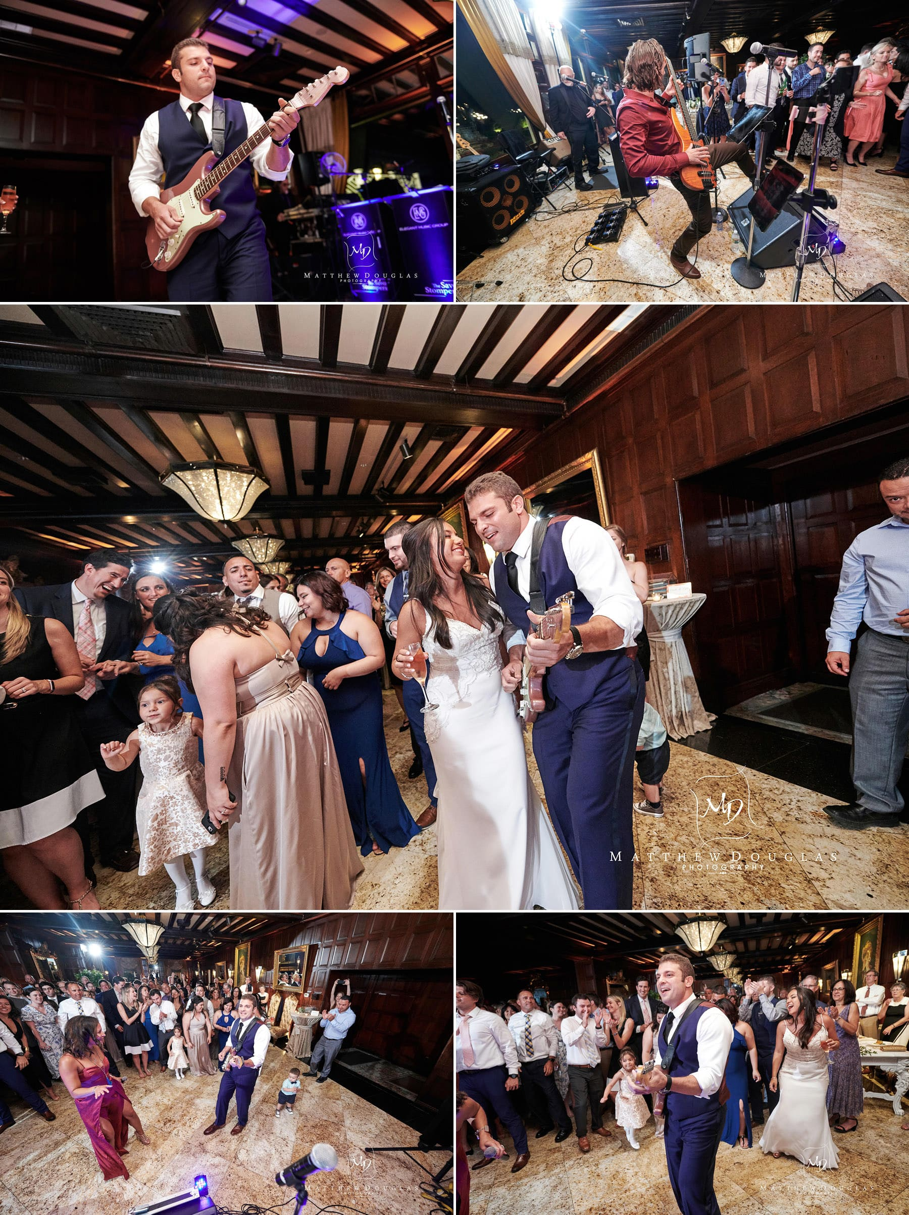 groom playing guitar at his shadowbrook nj wedding