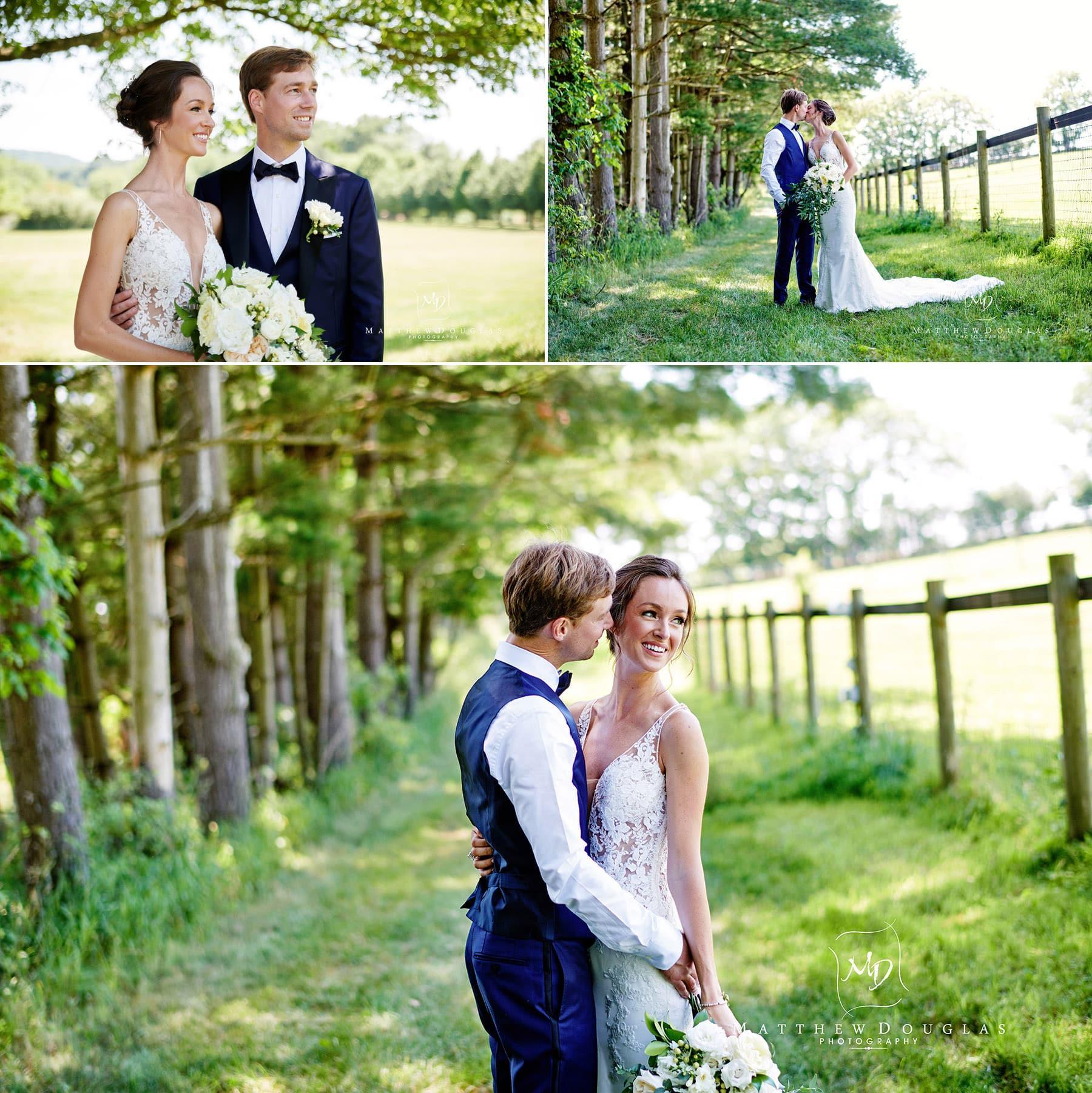 wedding photos at a horse farm