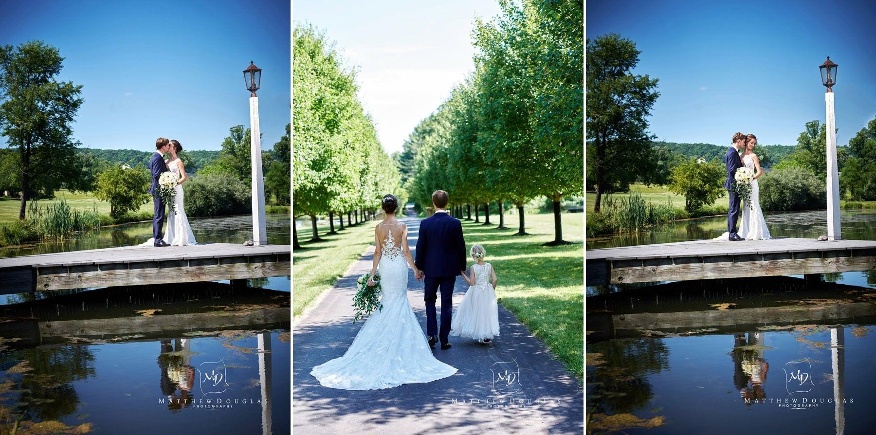 wedding photos on a working farm