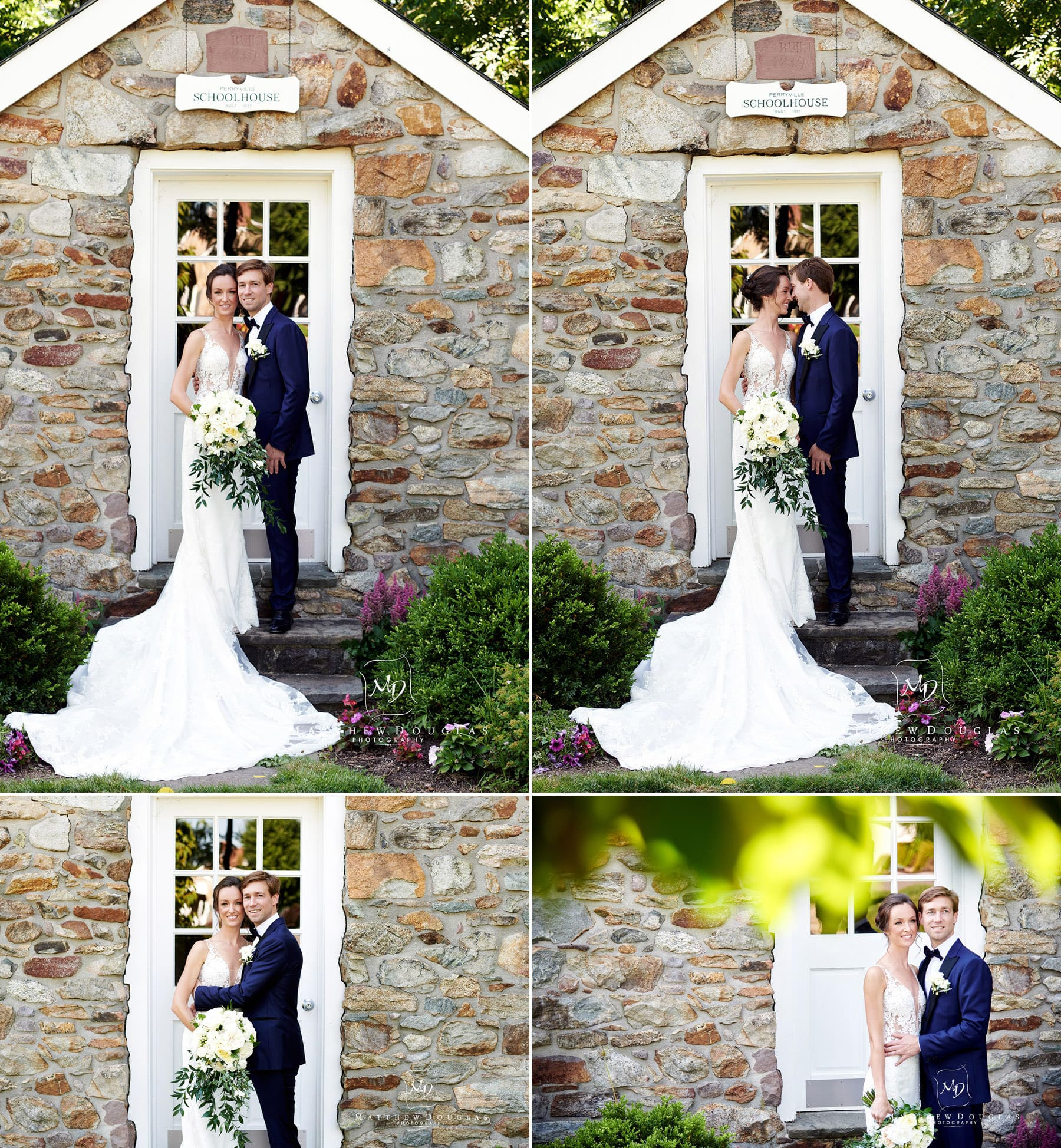 farmhouse at the grand colonial school wedding photo