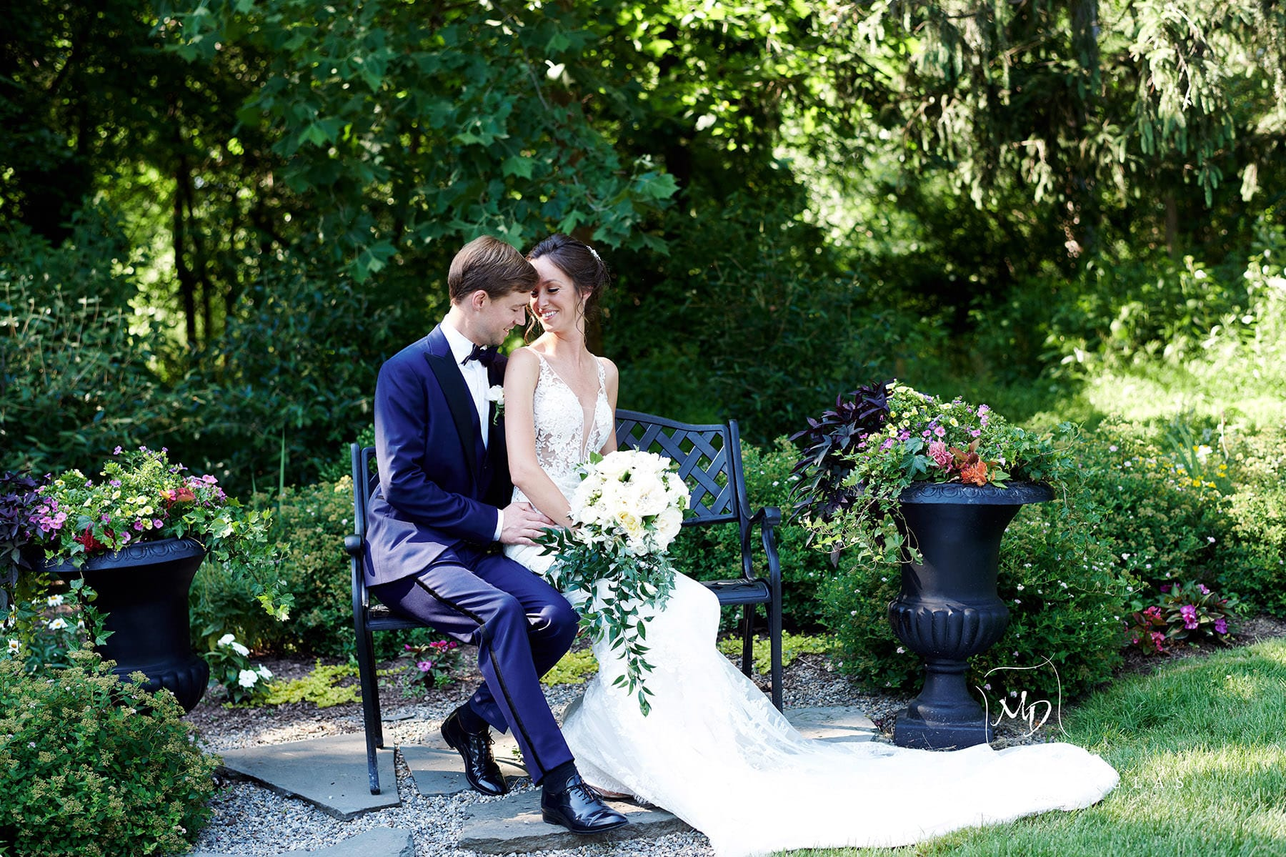 romantic wedding photo at farmhouse at the grand colonial