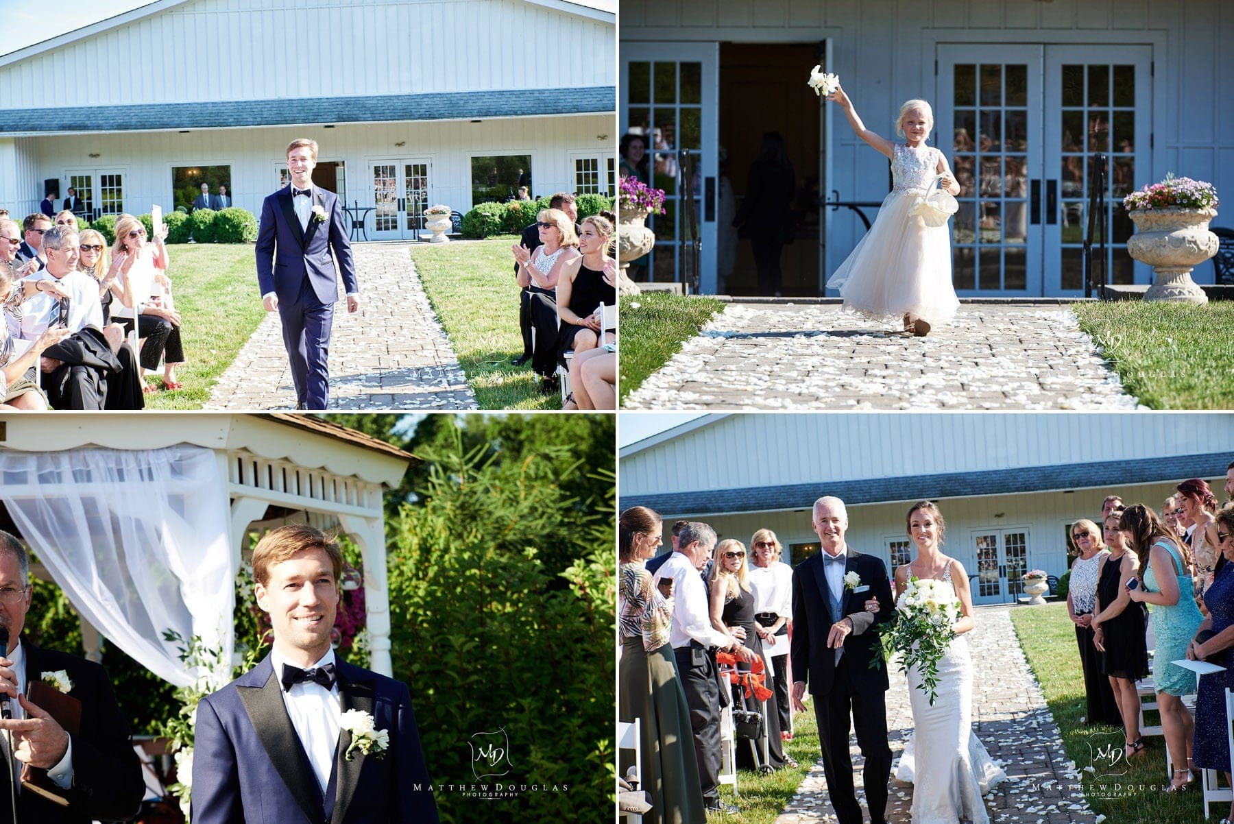 groom wedding entrance at farmhouse at the grand colonial