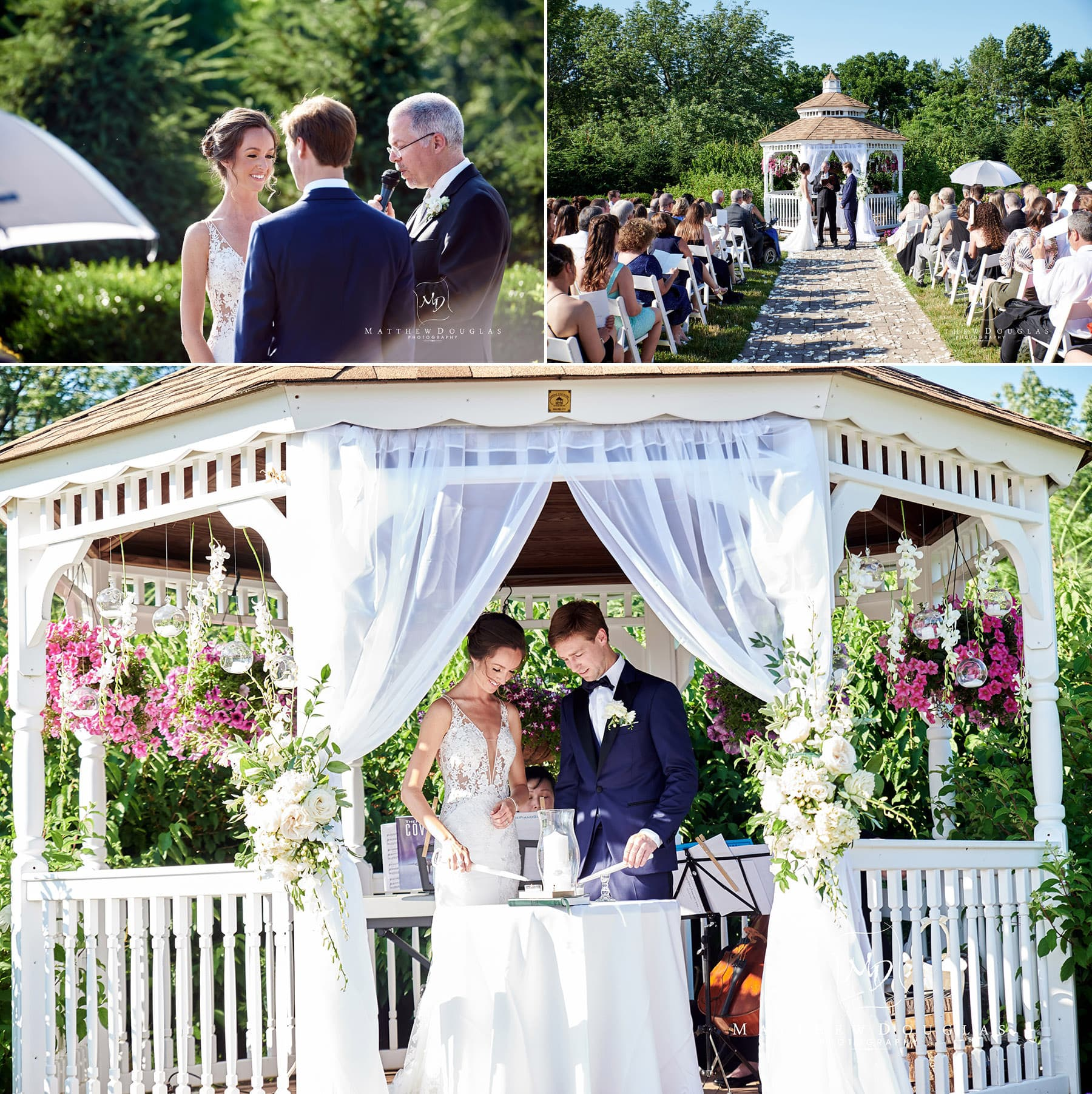 wedding ceremony photo at farmhouse at the grand colonial