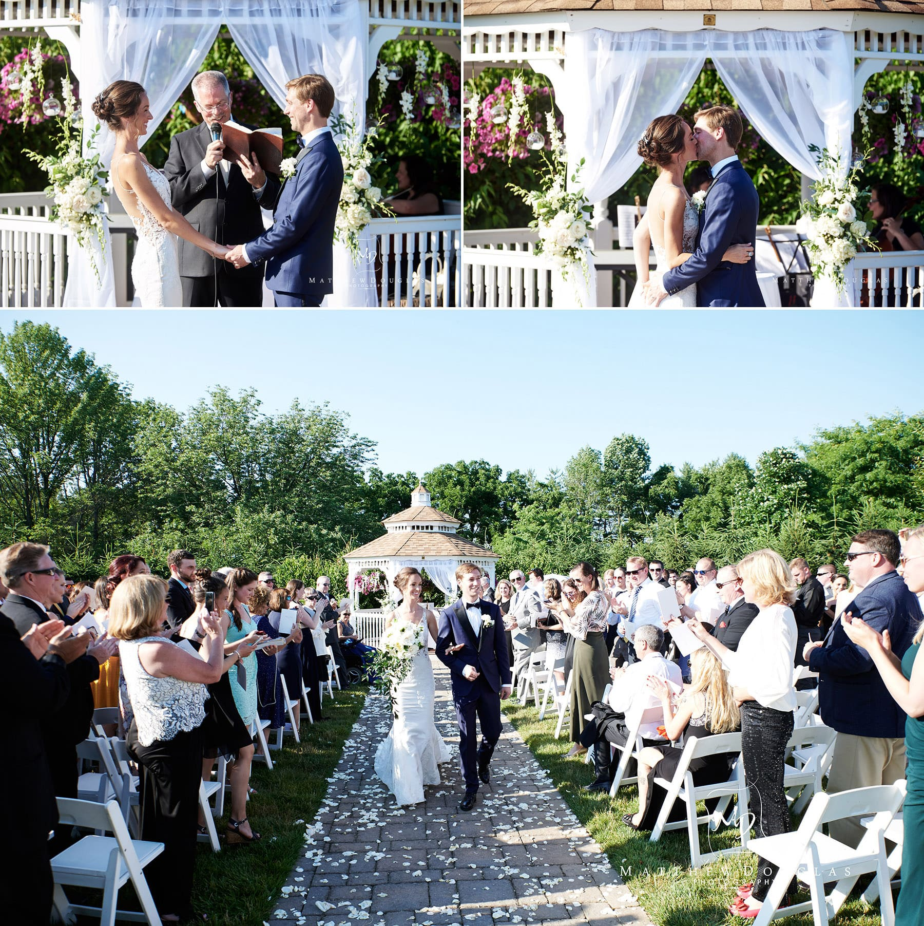 wedding ceremony kiss photo farmhouse at the grand colonial