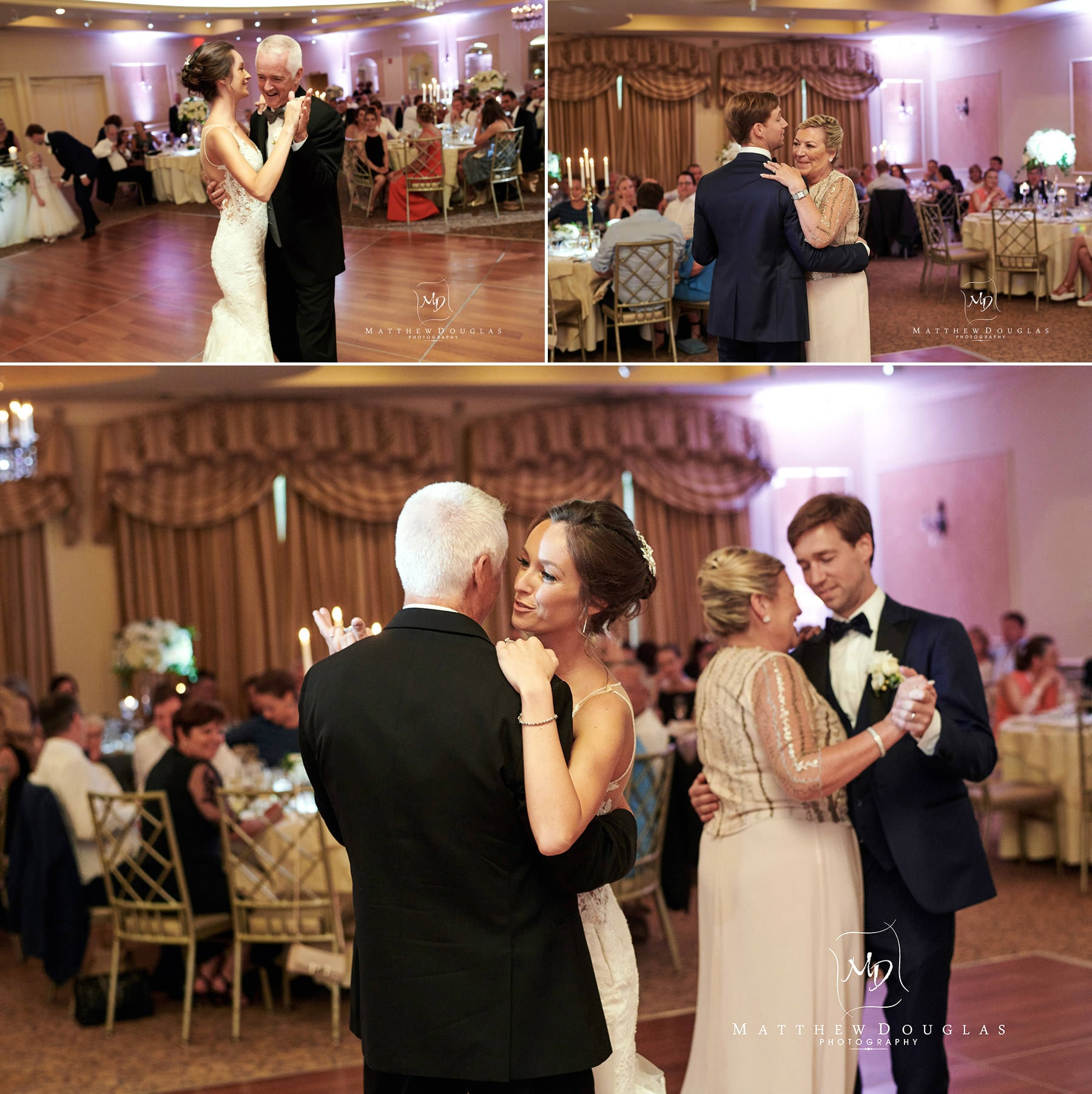 wedding parent dances at farmhouse at the grand colonial