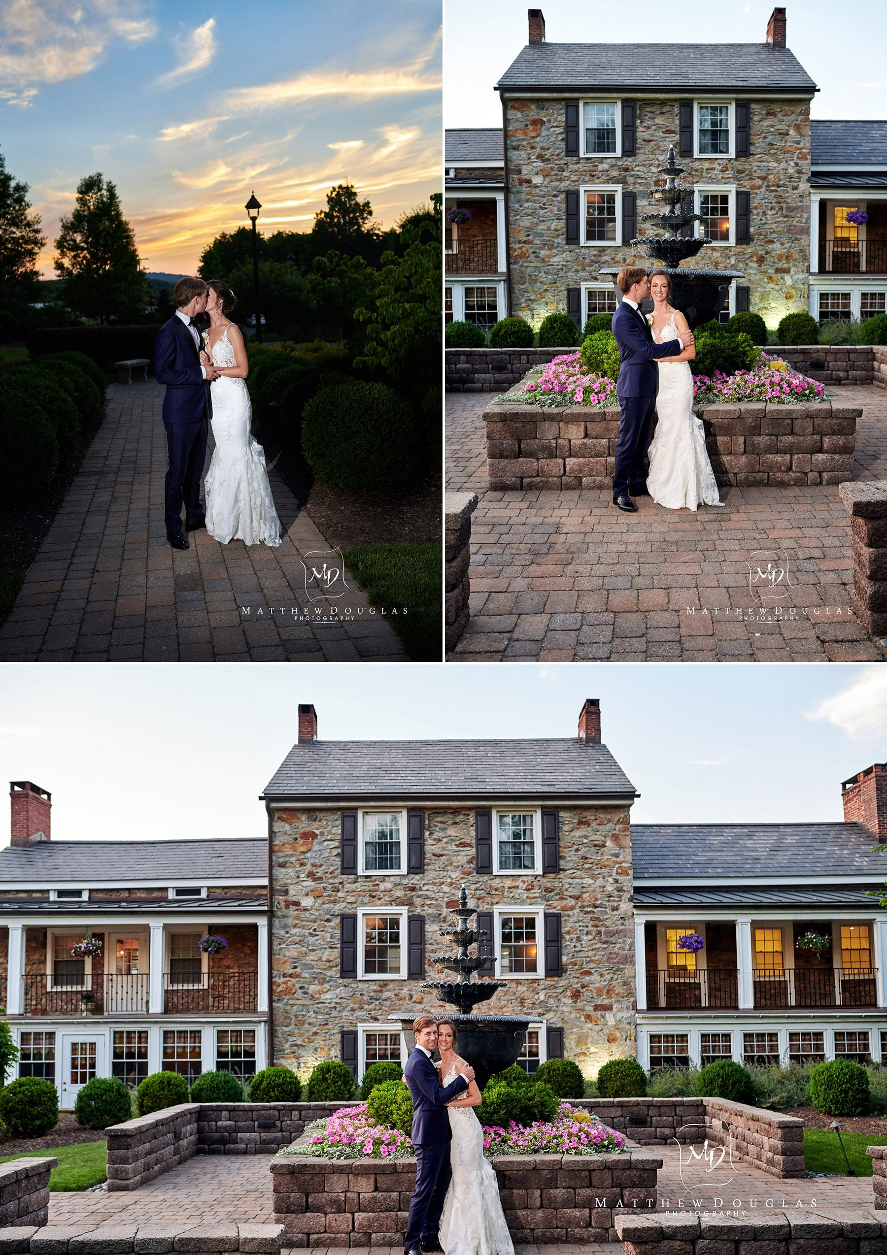wedding photos at farmhouse at the grand colonial