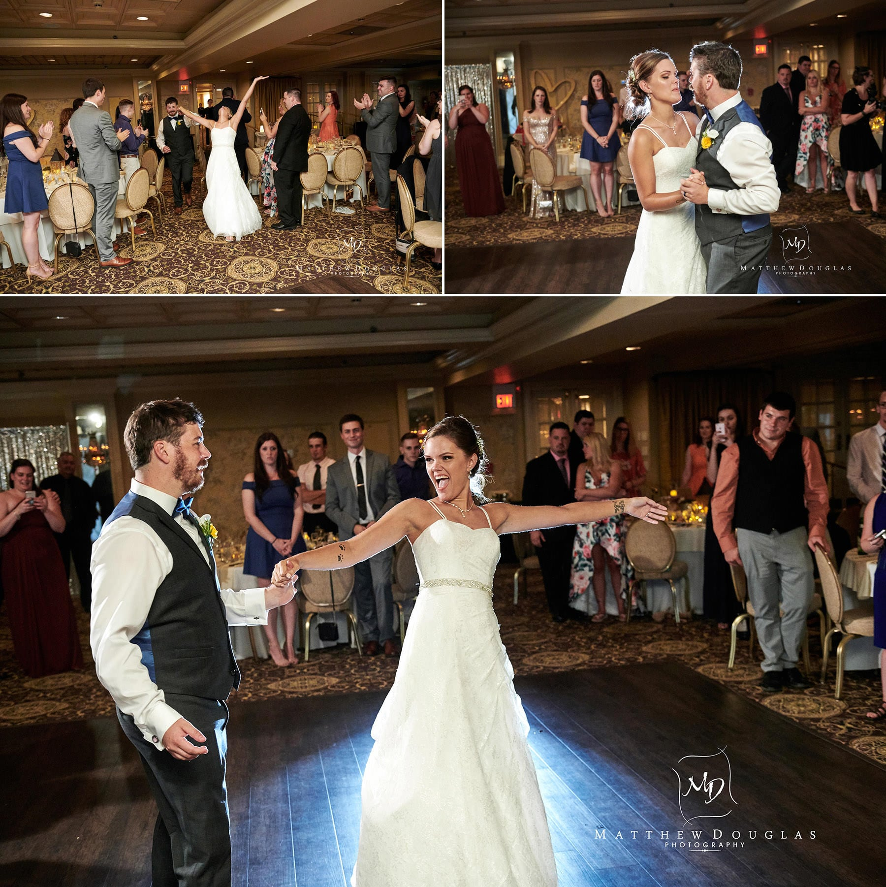 olde mill inn wedding first dance photos