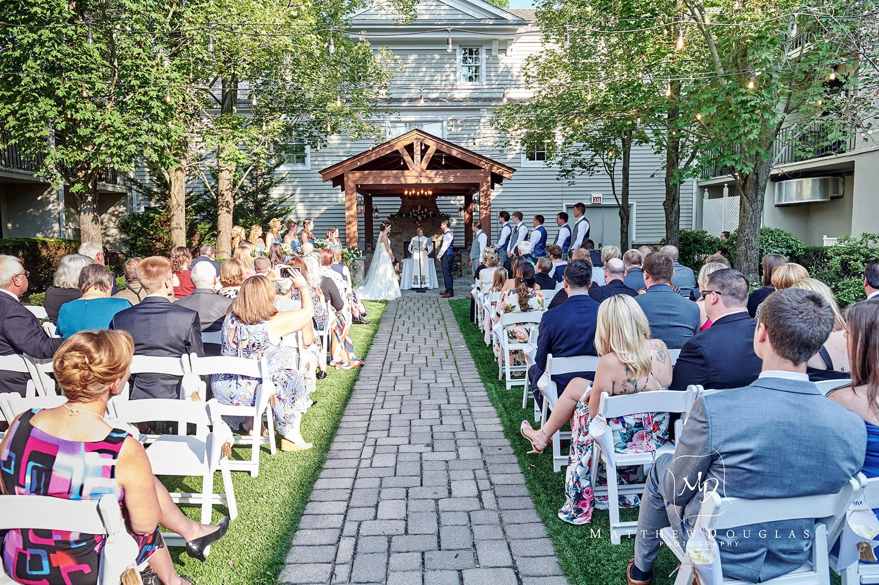 olde mill inn wedding pergola