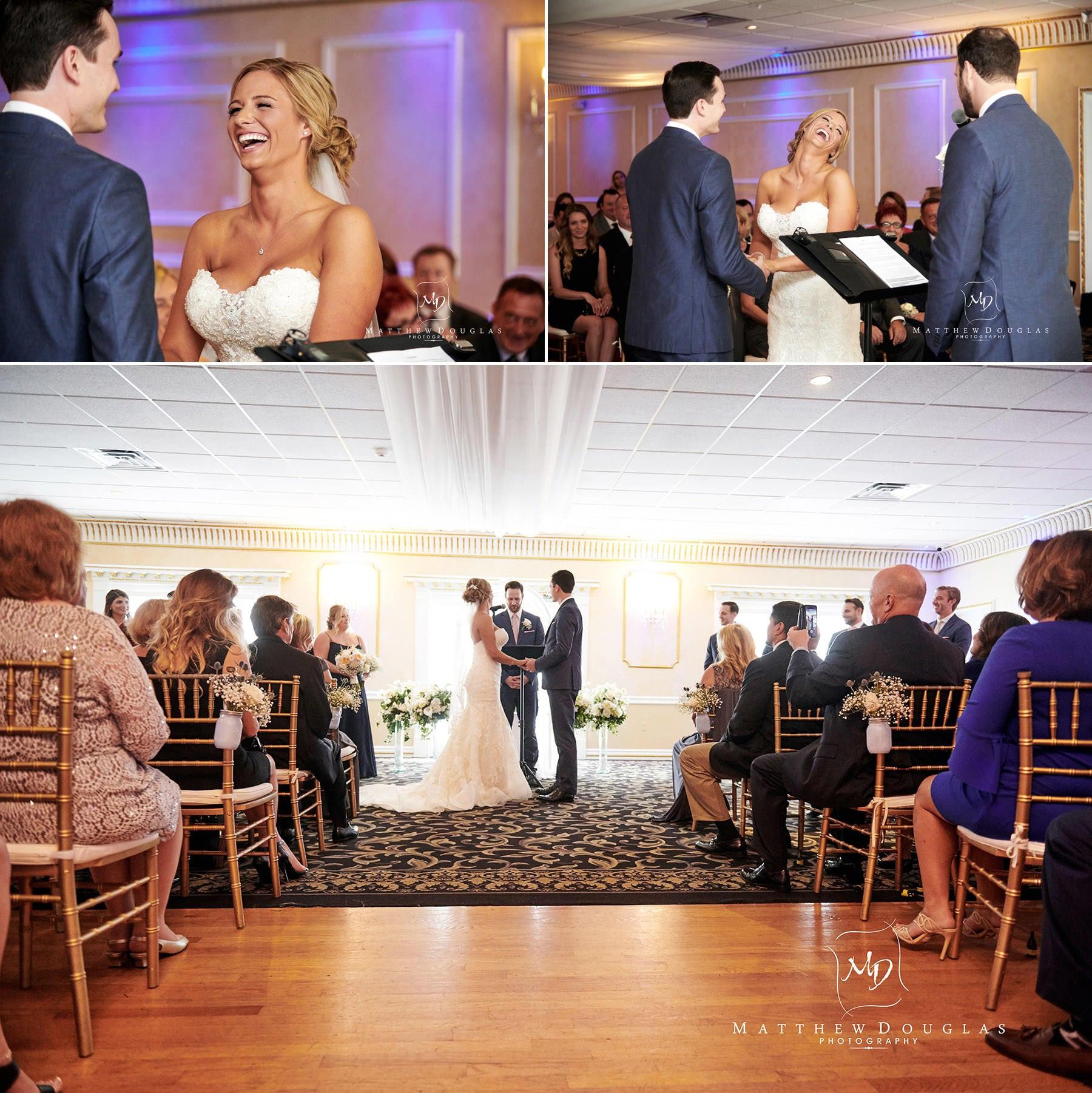 Chandelier Flanders Valley Wedding ceremony indoors