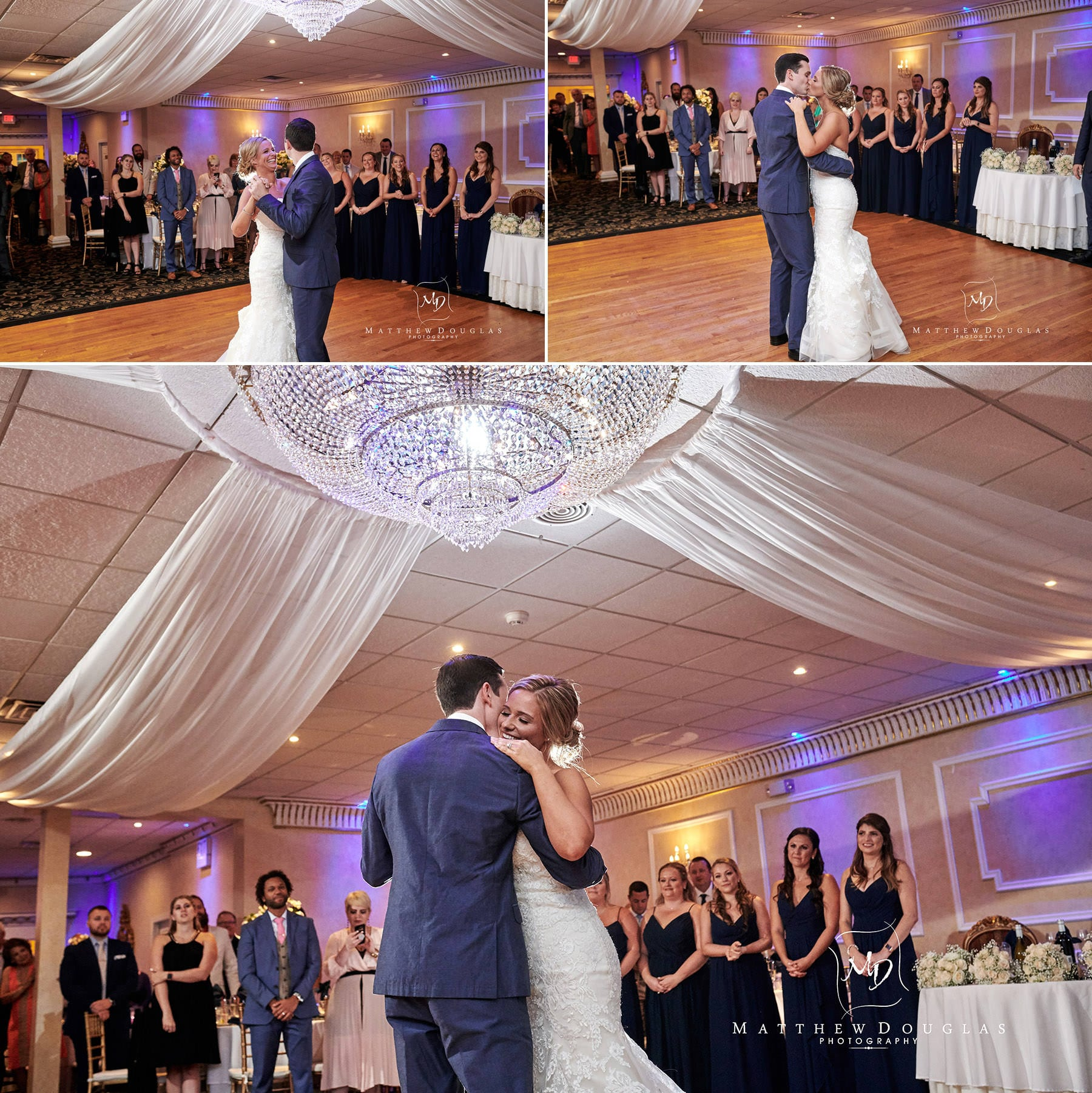 Chandelier Flanders Valley Wedding first dance photos