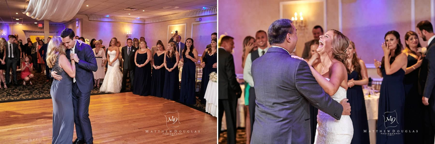 Chandelier Flanders Valley Wedding parent dance photos