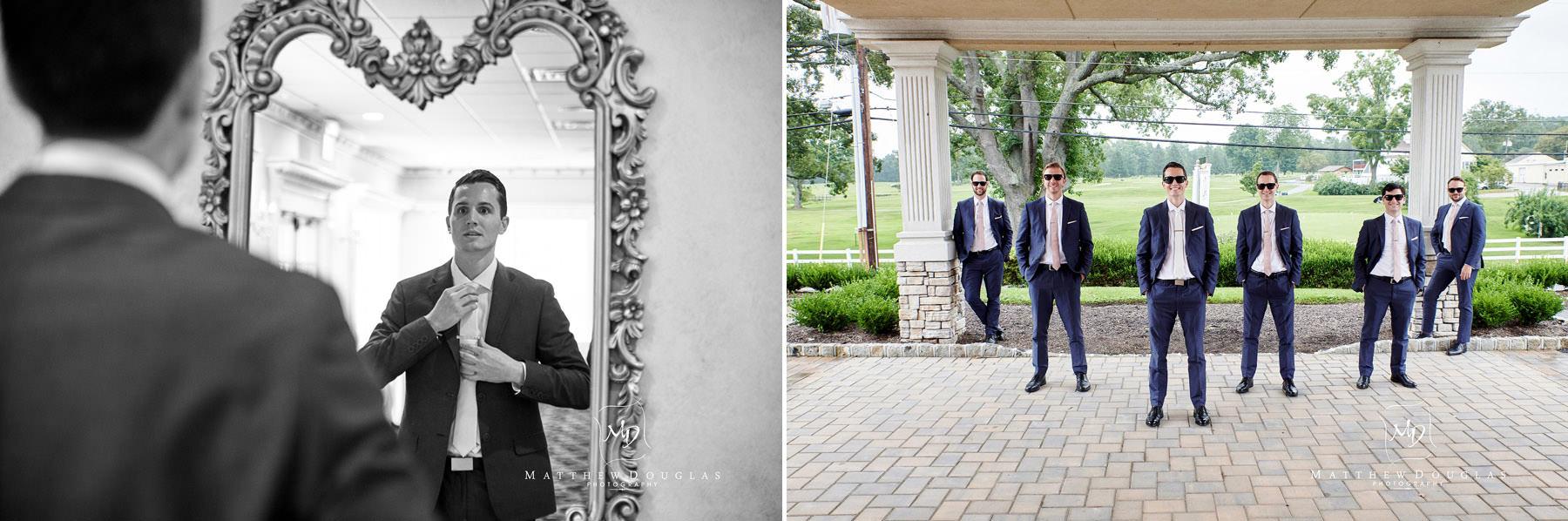 Chandelier Flanders Valley Wedding groomsmen