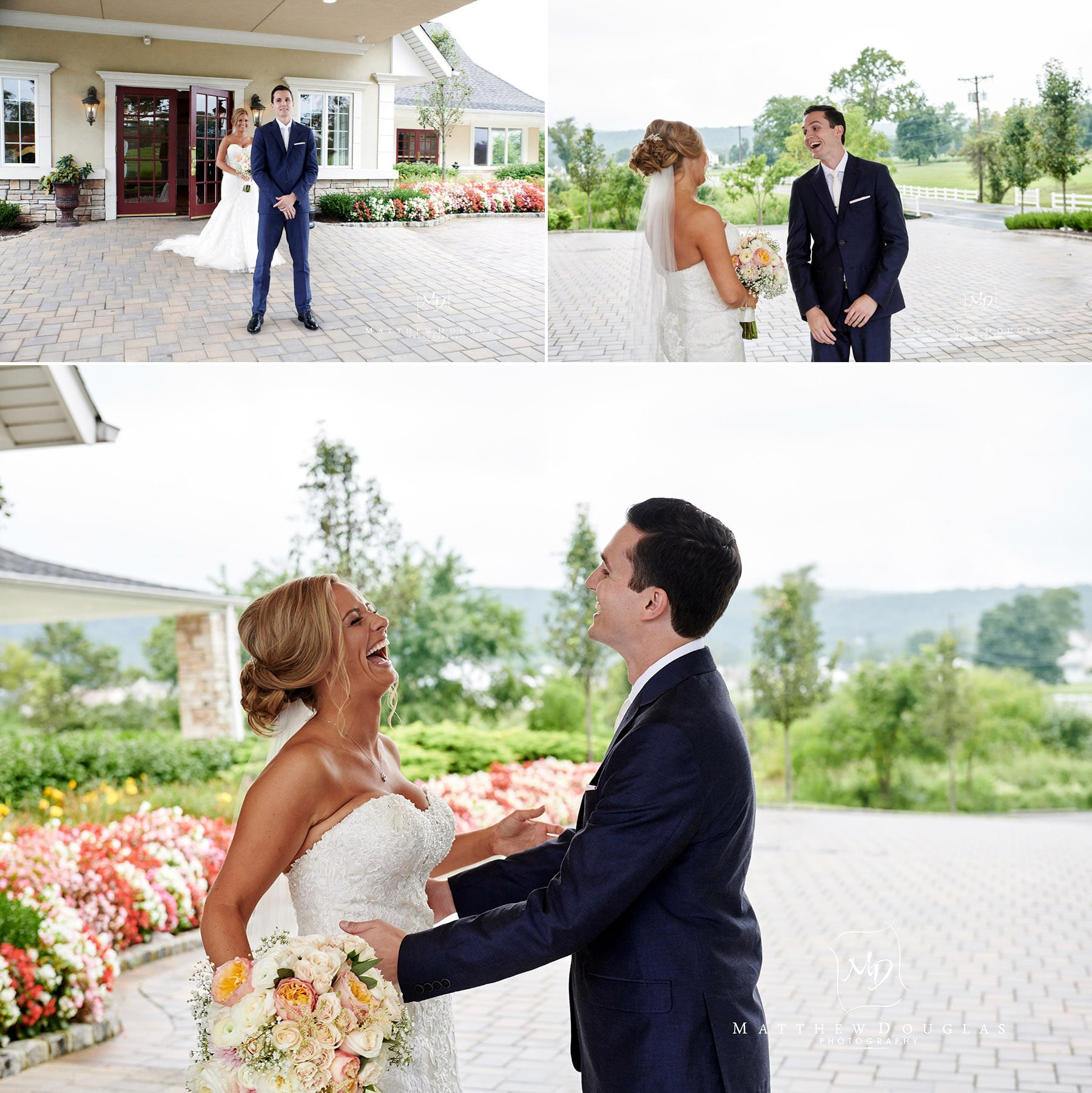 Chandelier Flanders Valley Wedding first look photos