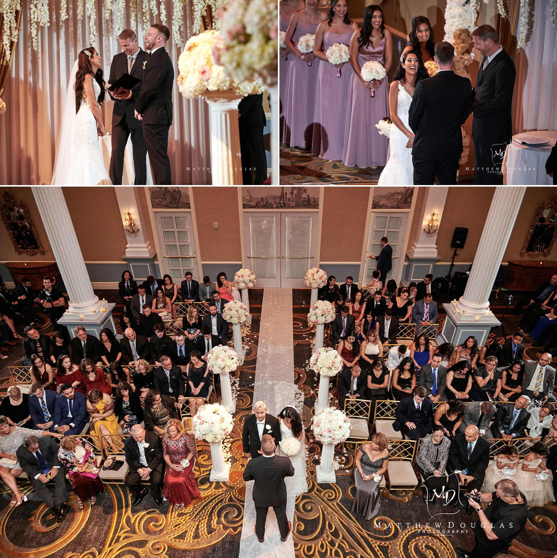 wedding ceremony photos at the palace at somerset park