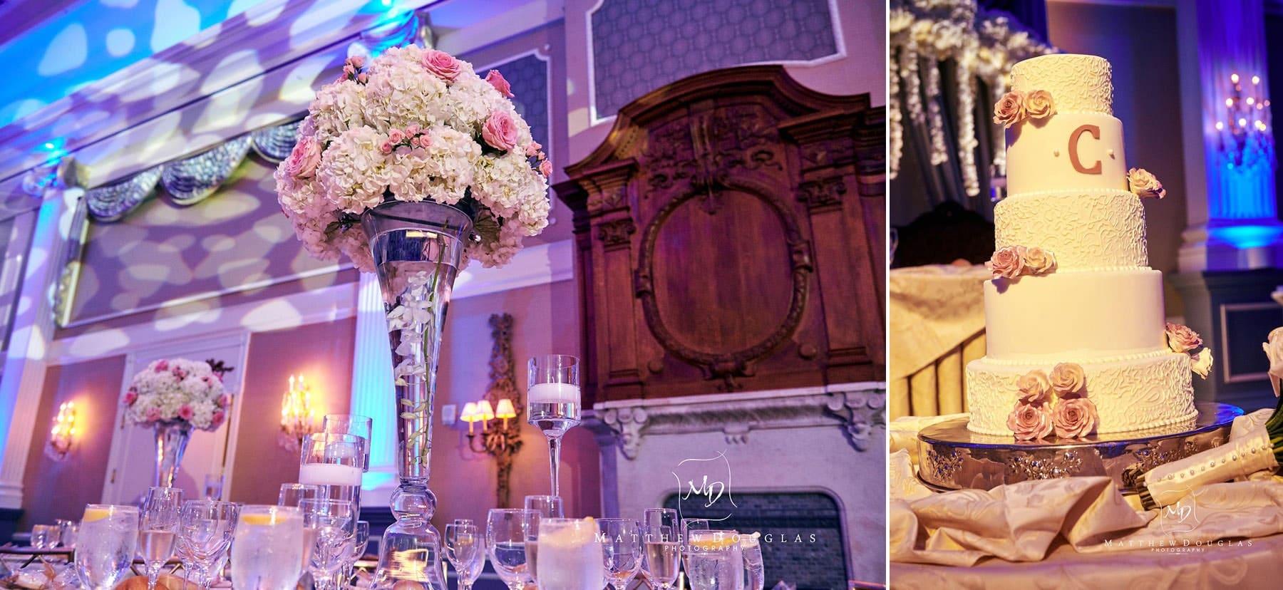 wedding details at the palace at somerset park