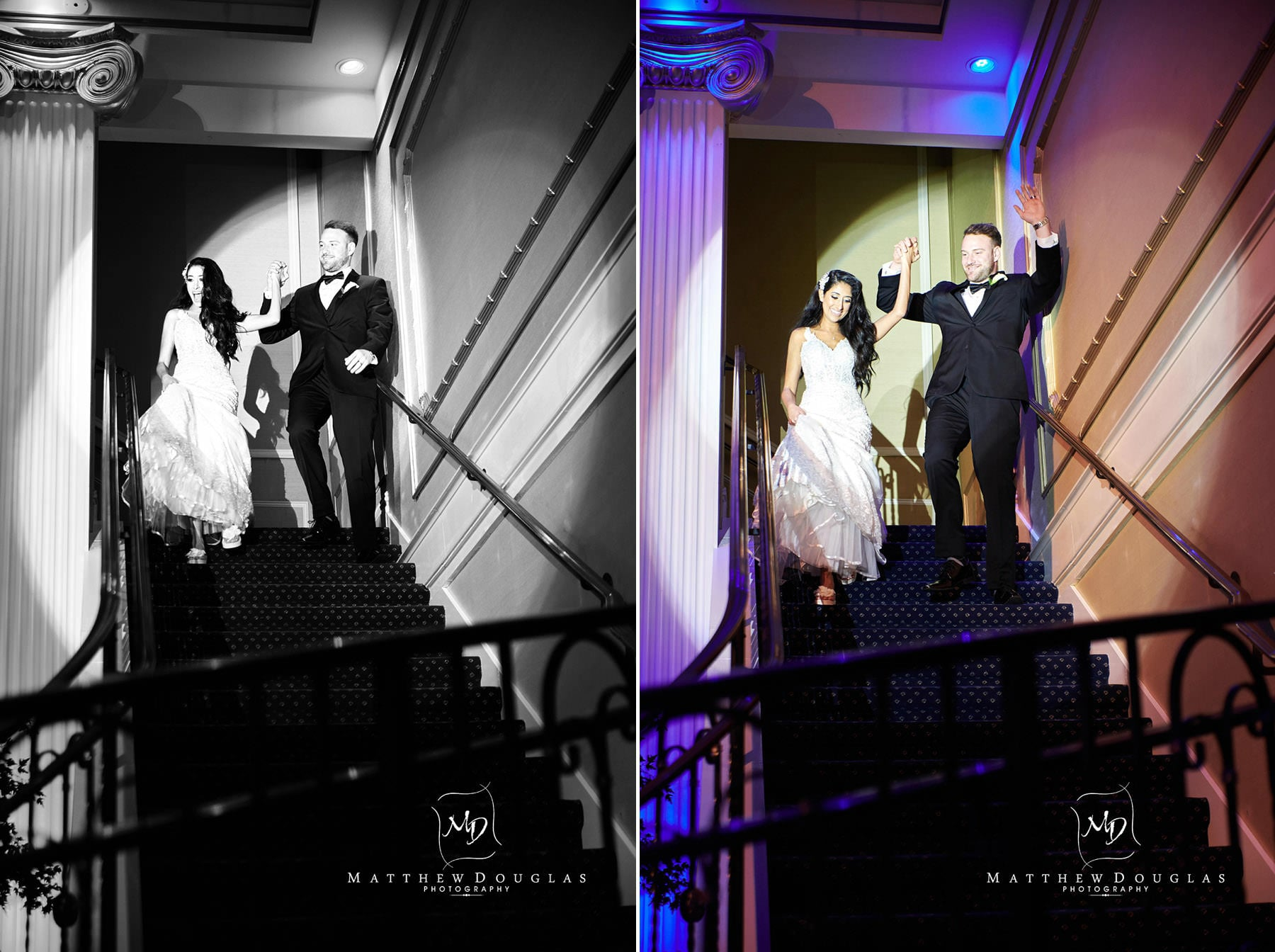 the palace at somerset park wedding grand entrance photos
