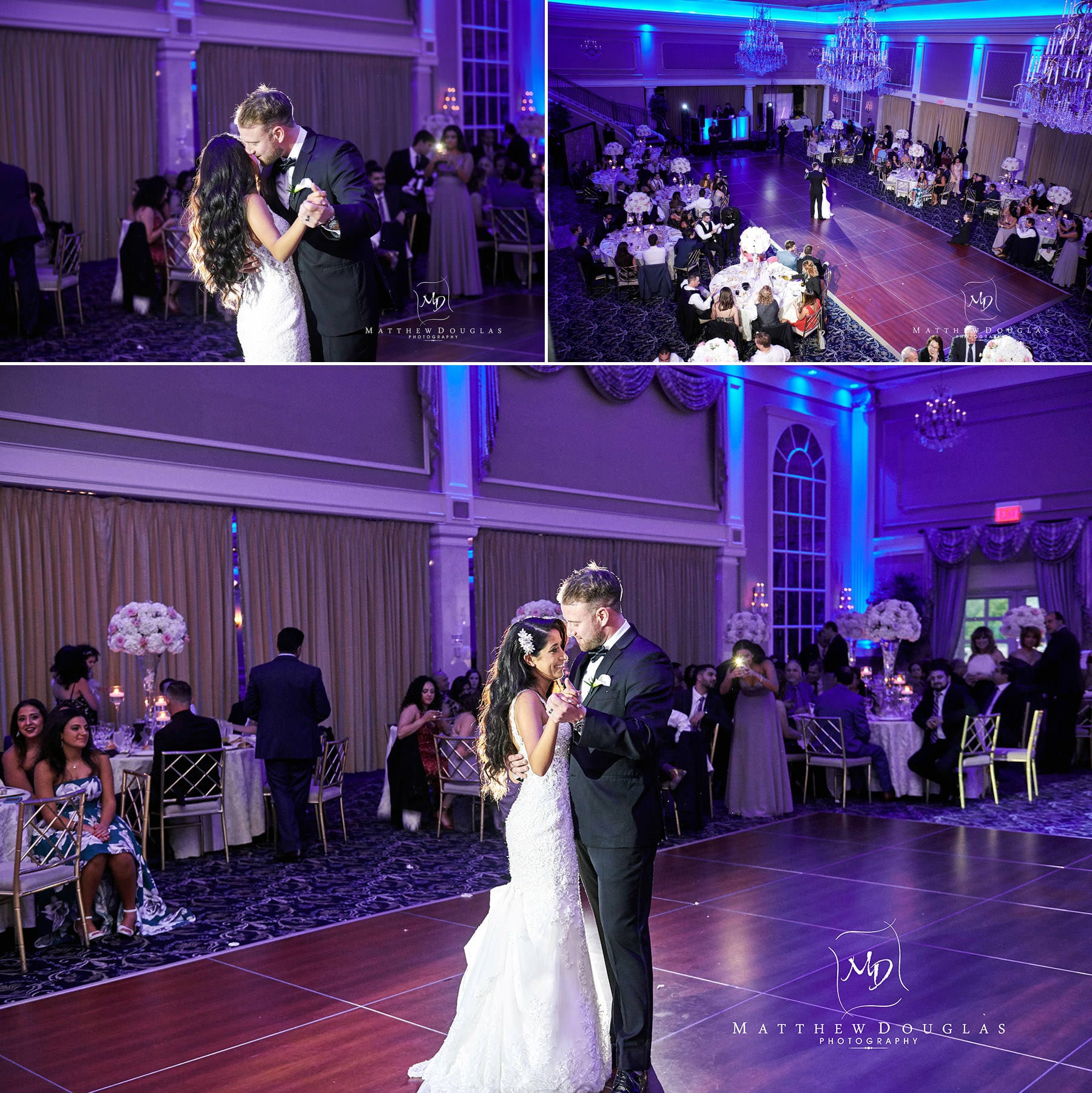 wedding first dance at the palace at somerset park
