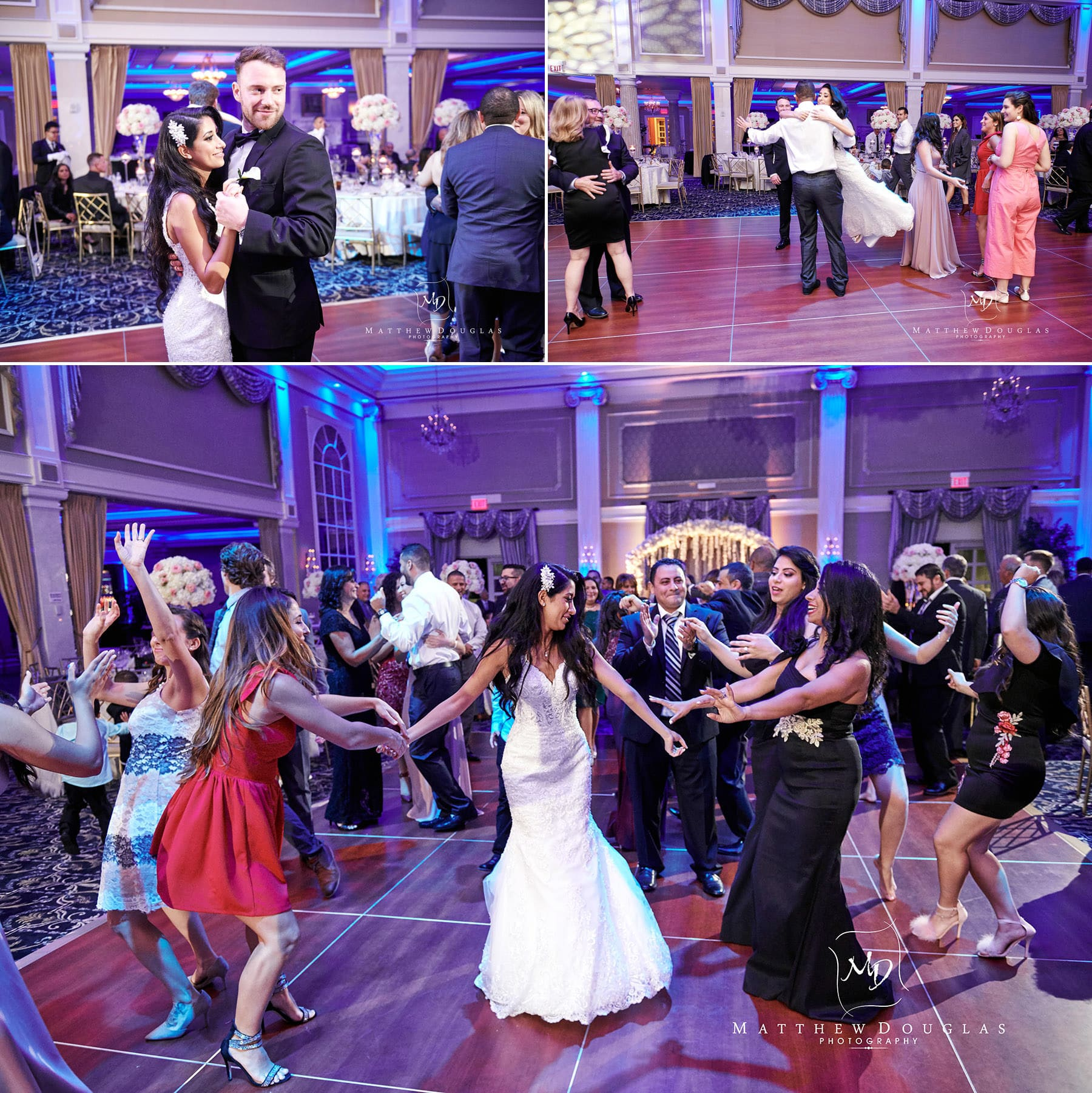 bride dancing at the palace at somerset park