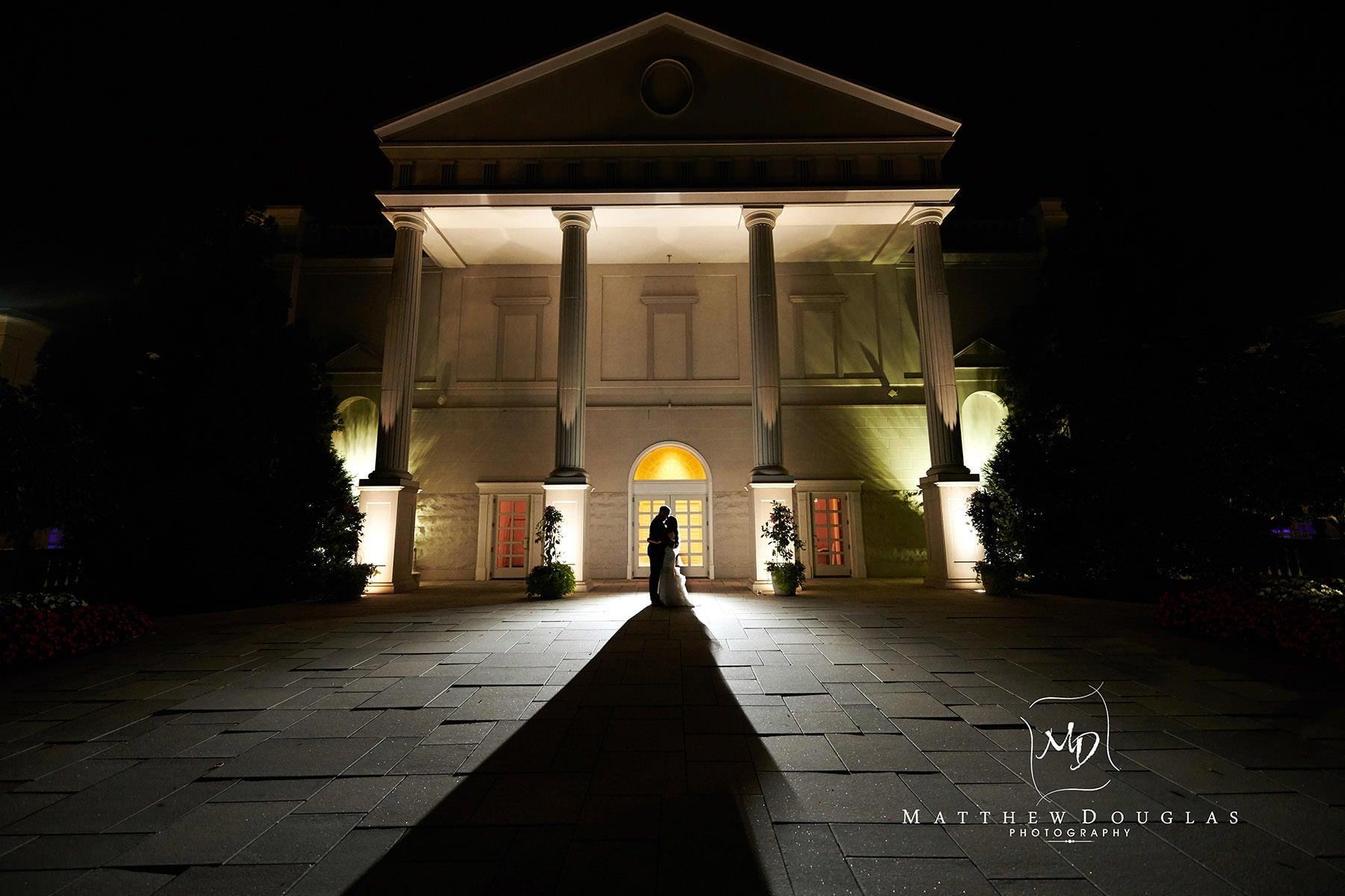 the palace at somerset park at night