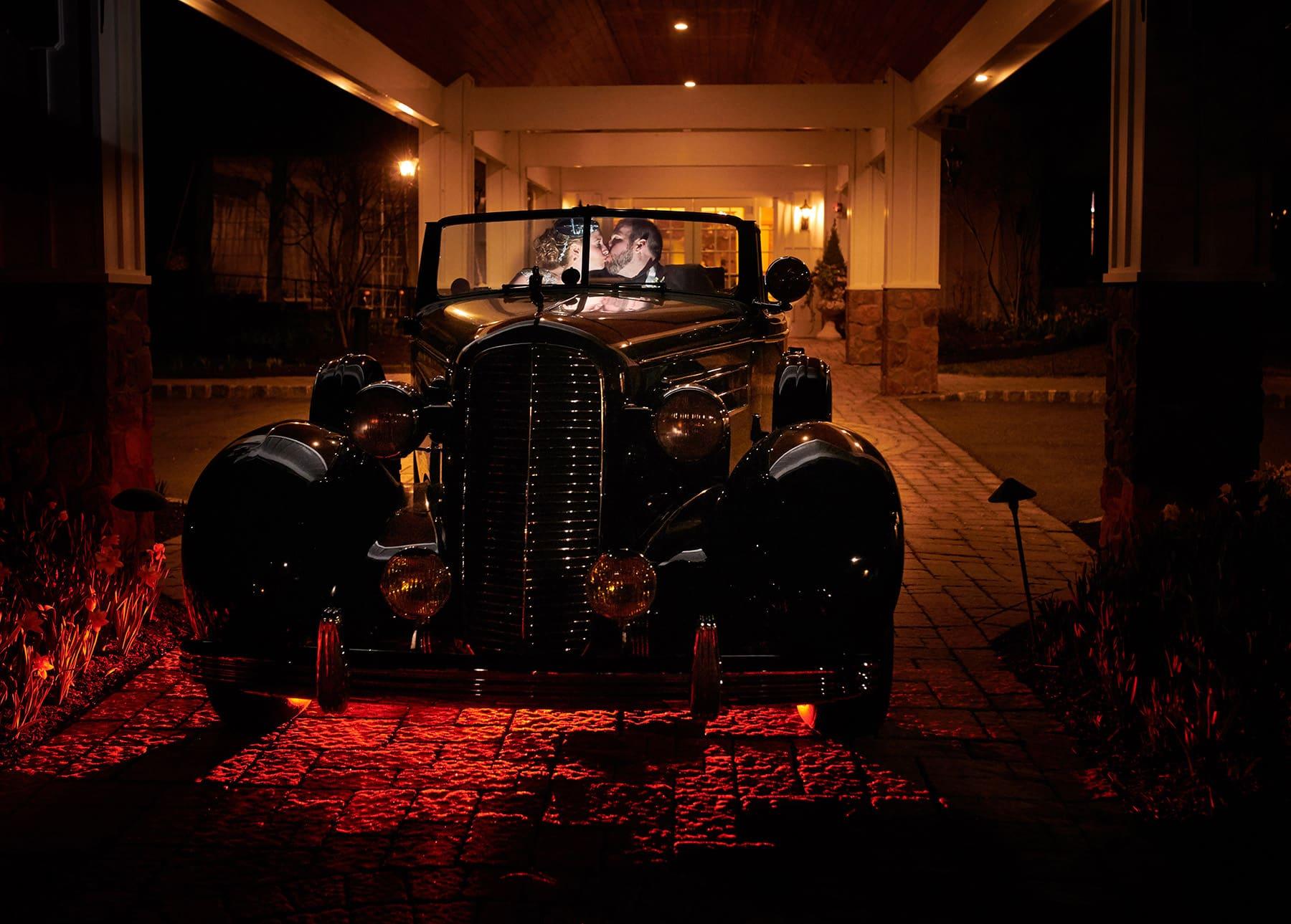 nighttime wedding photo farmhouse grand colonial