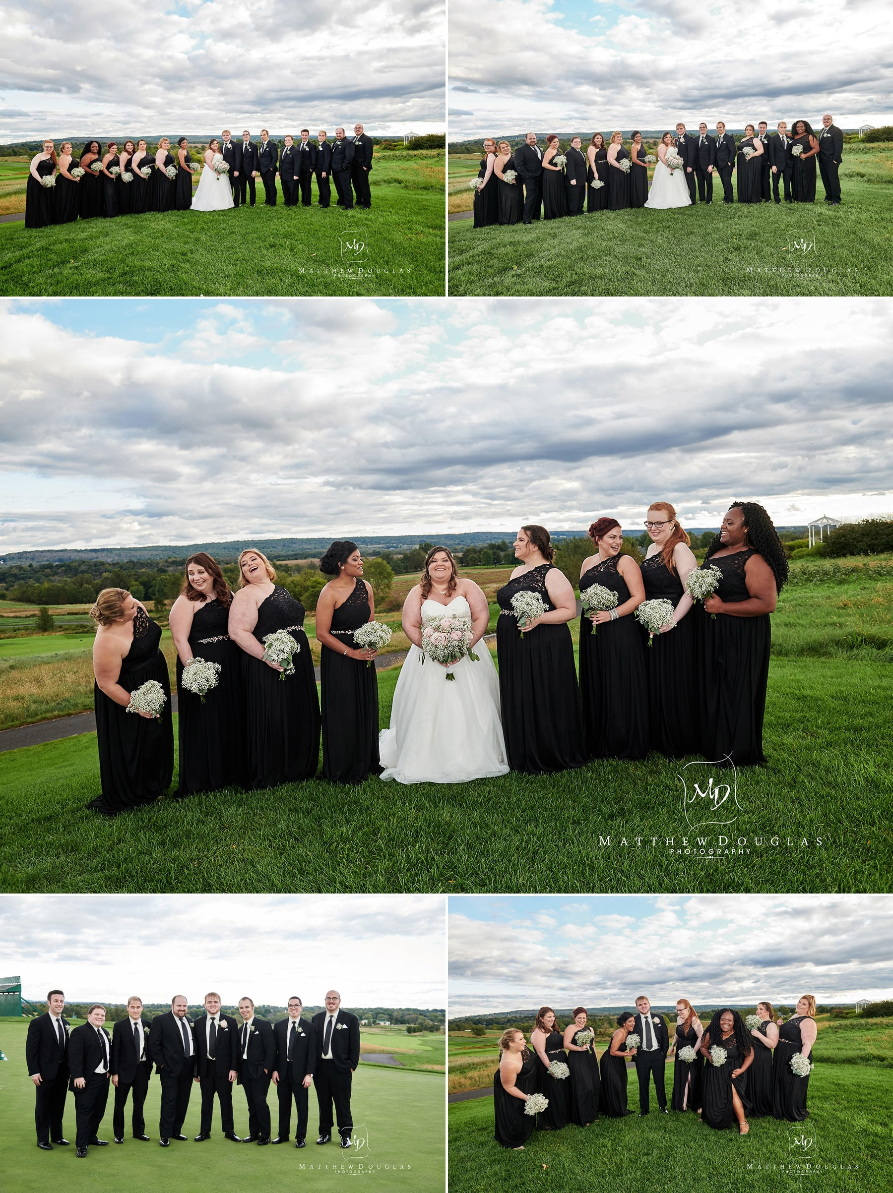 neshanic valley golf course wedding bridal party photos