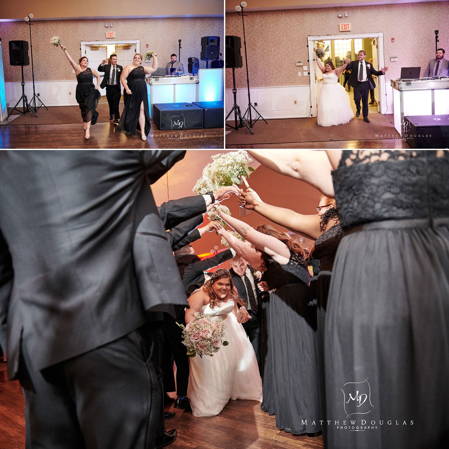 neshanic valley golf course wedding grand entrance photo