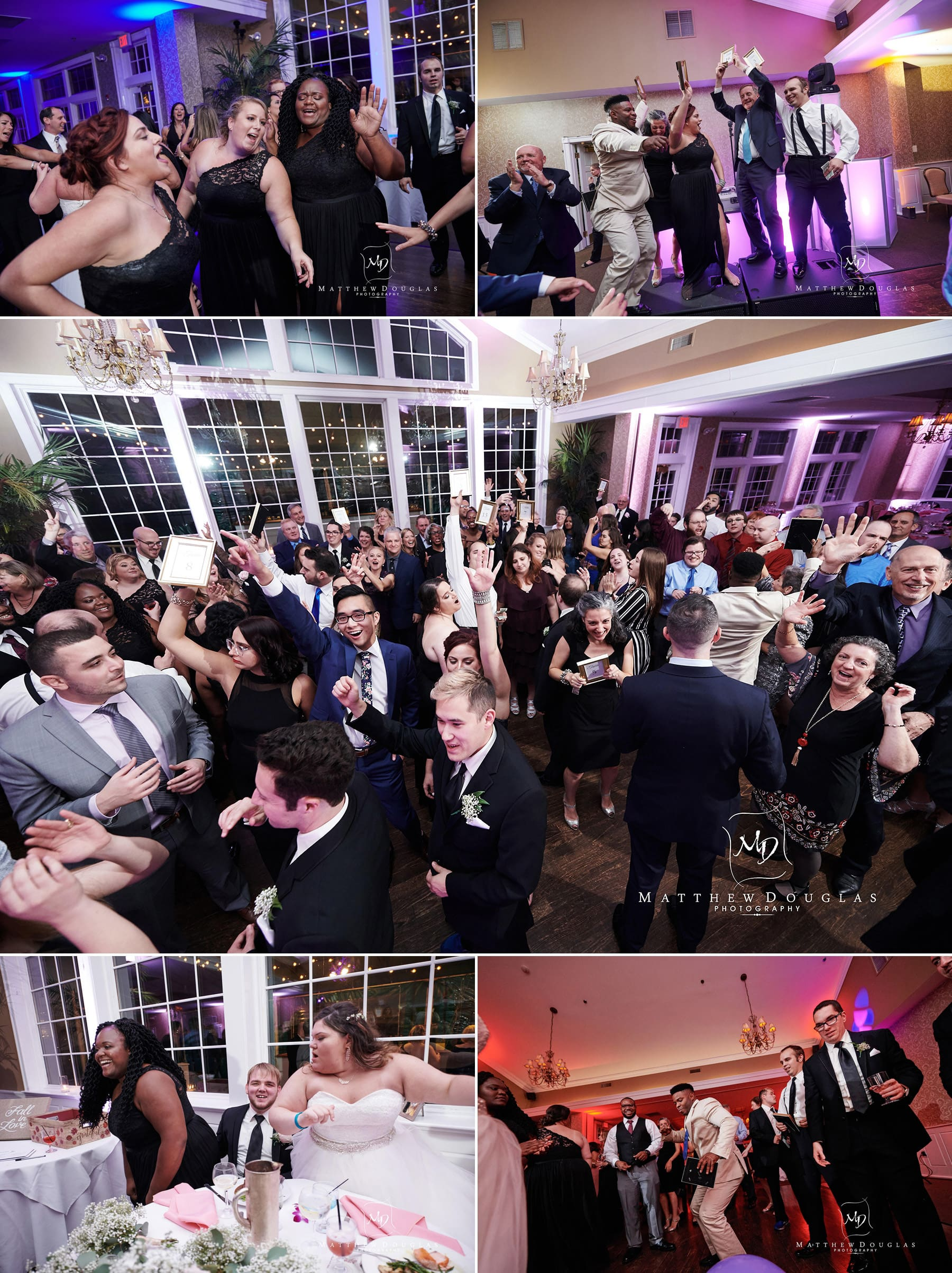 neshanic valley golf course wedding packed dance floor photos