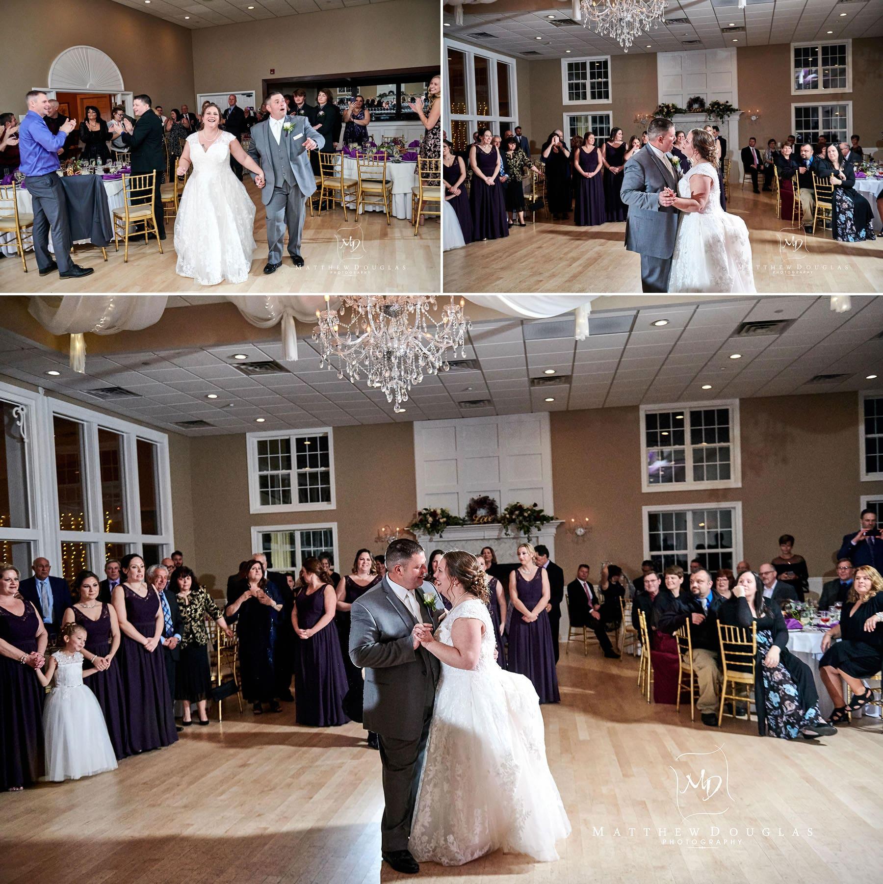 Skyview Golf club wedding first dance photos