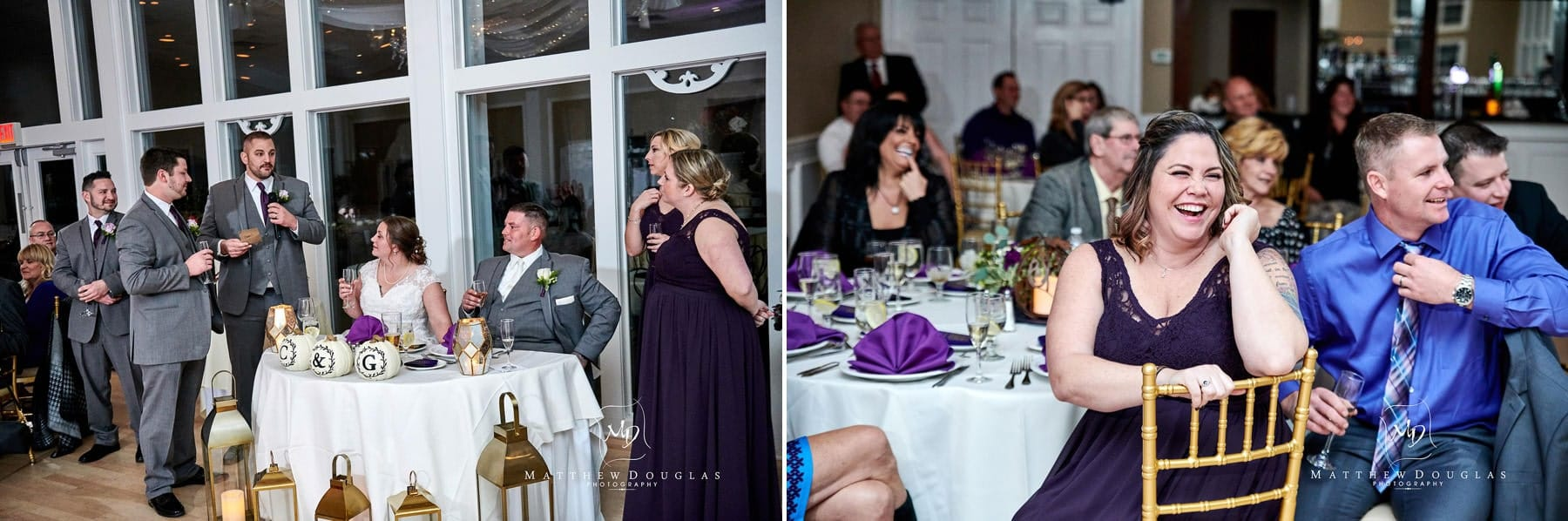 Skyview Golf club wedding toasting photos
