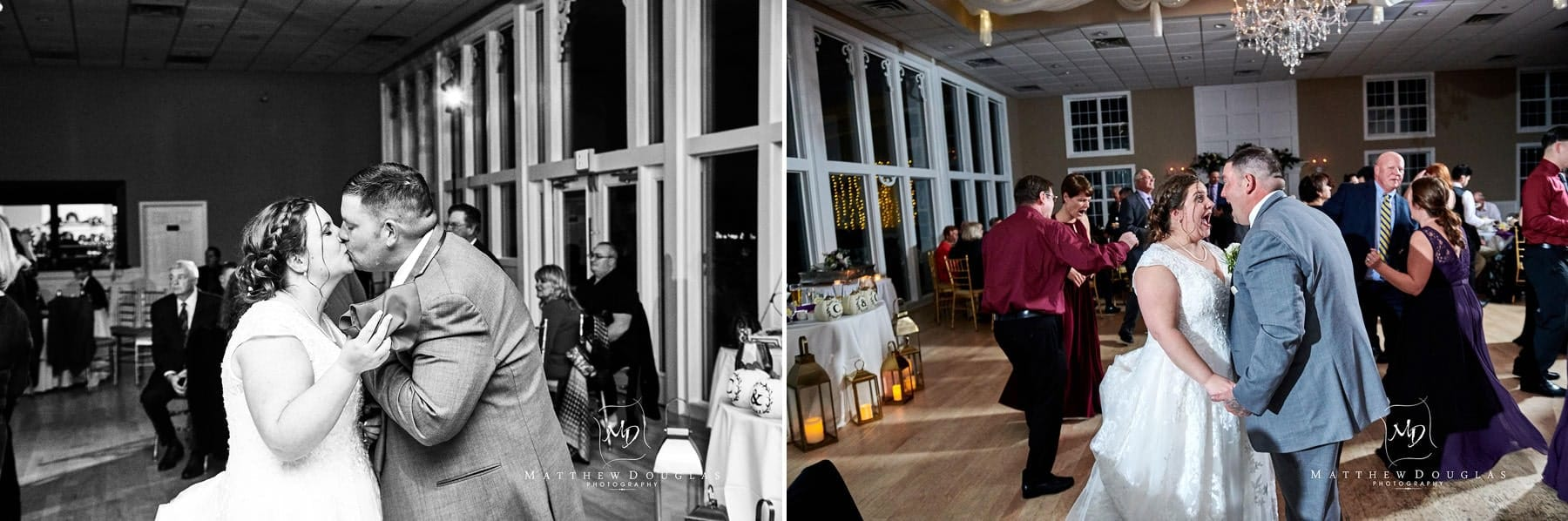 bride and groom dancing at Skyview Golf club