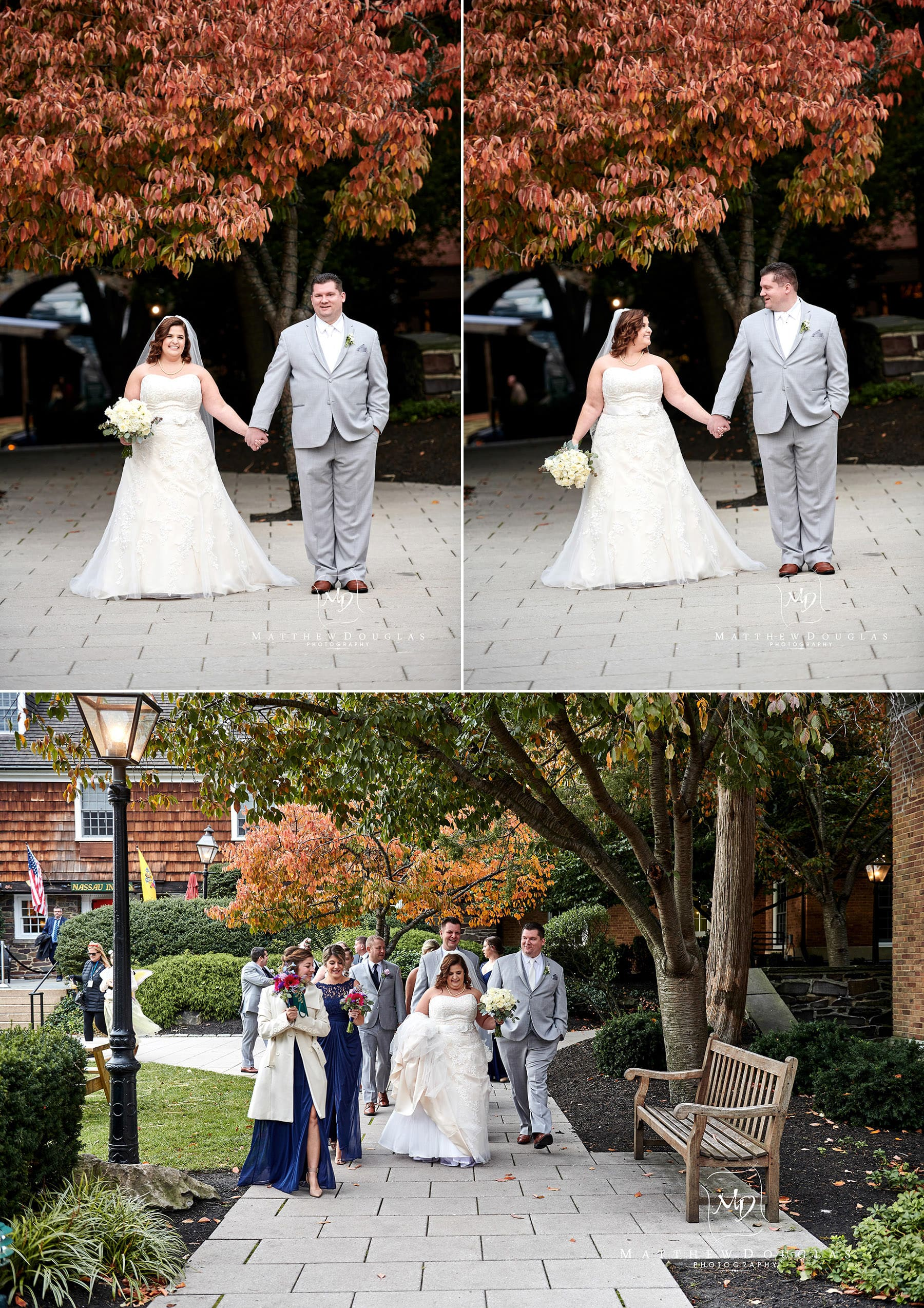 Nassau Inn fall wedding photos