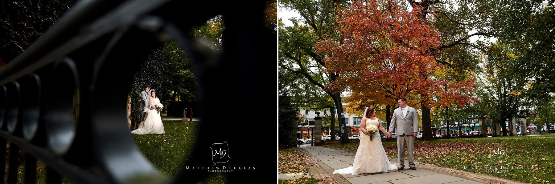 fall Princeton University wedding photo