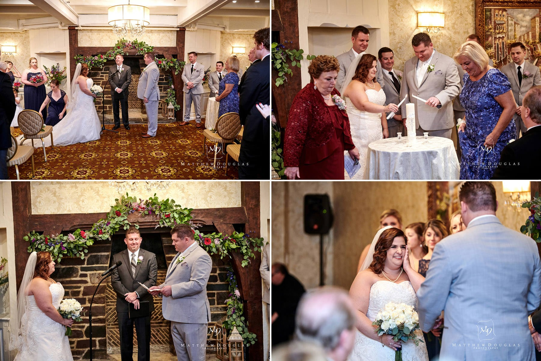 Nassau Inn wedding indoor ceremony