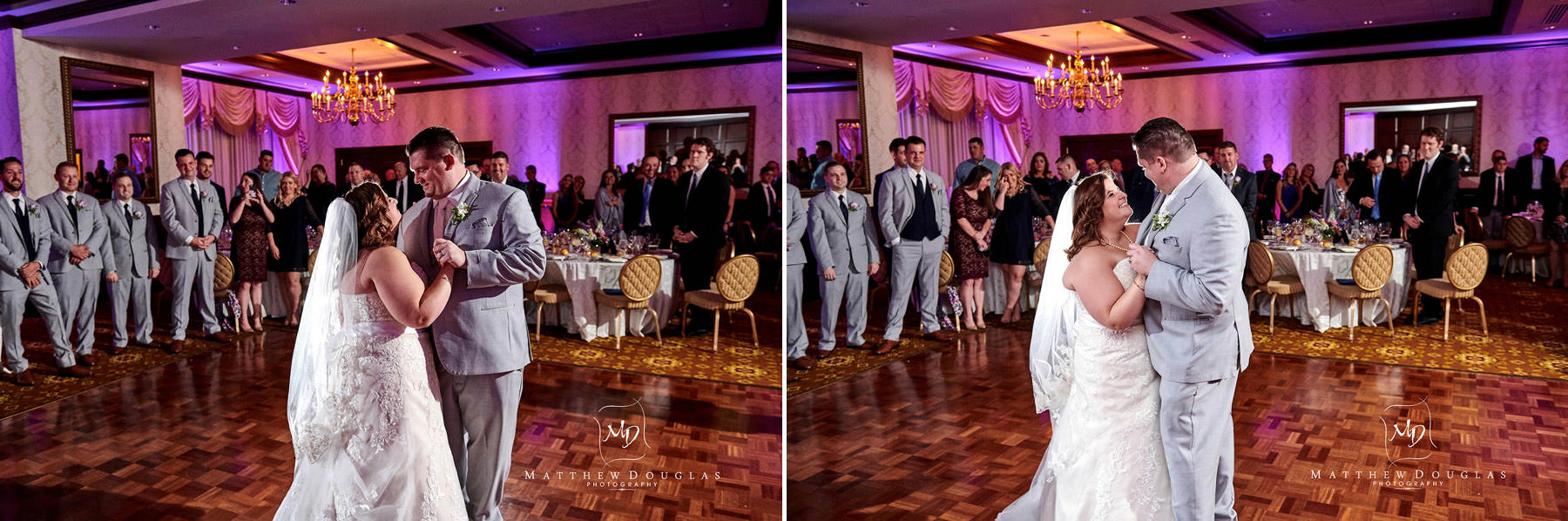 Nassau Inn wedding first dance photos