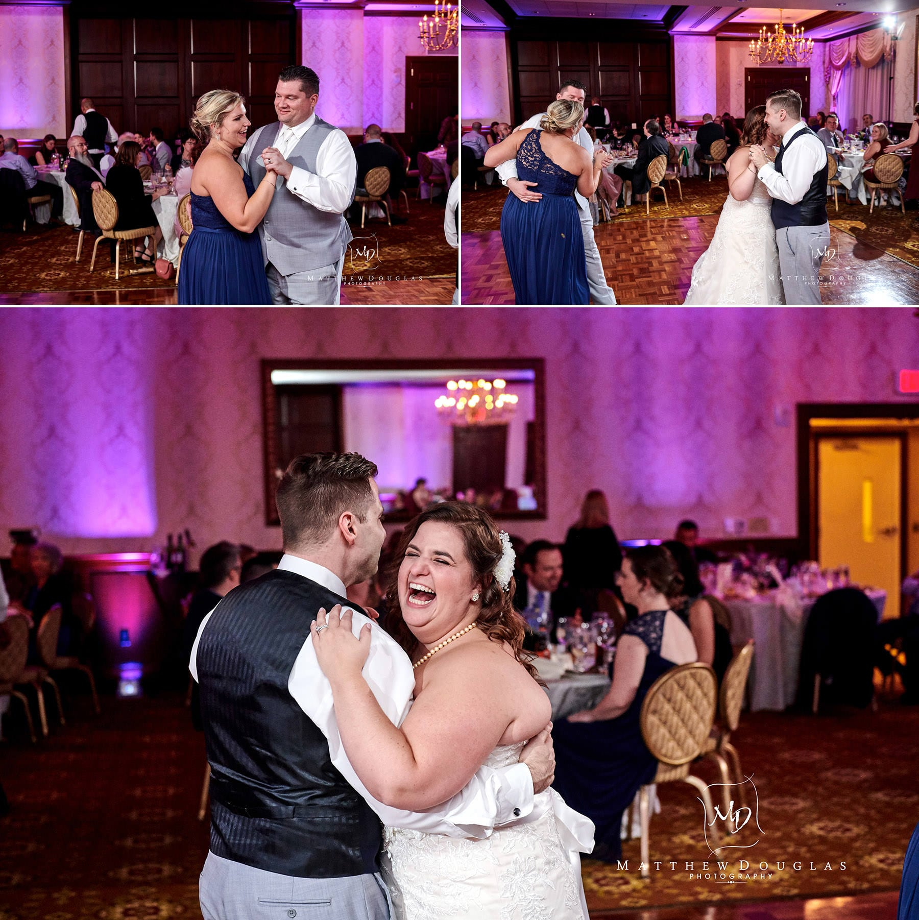 Nassau Inn wedding party photos