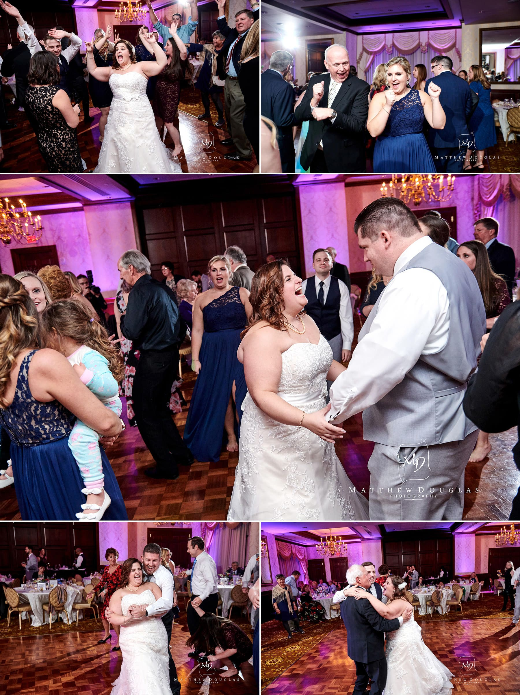 Nassau Inn wedding dance floor photos