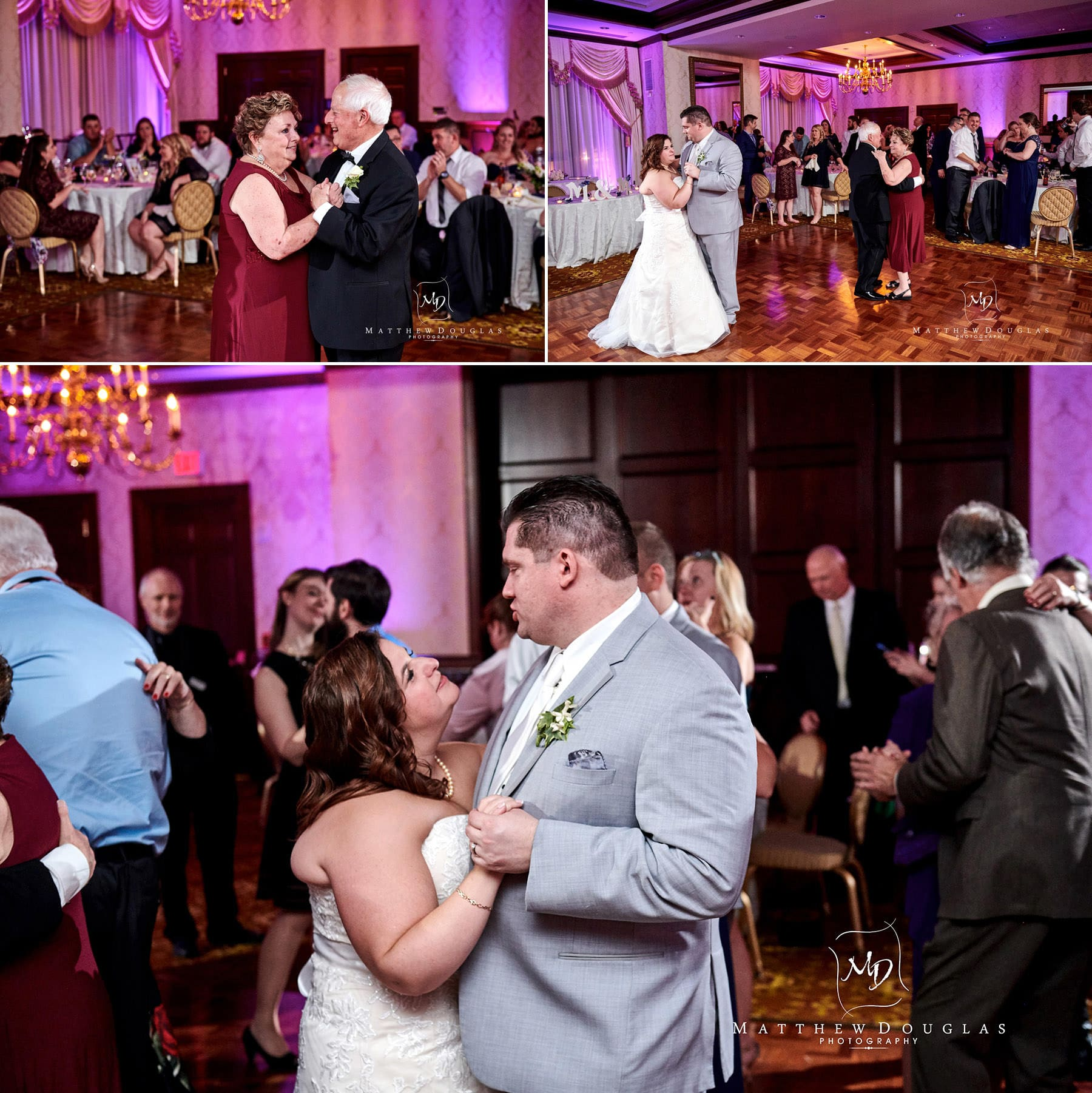 Nassau Inn wedding bride and groom photos