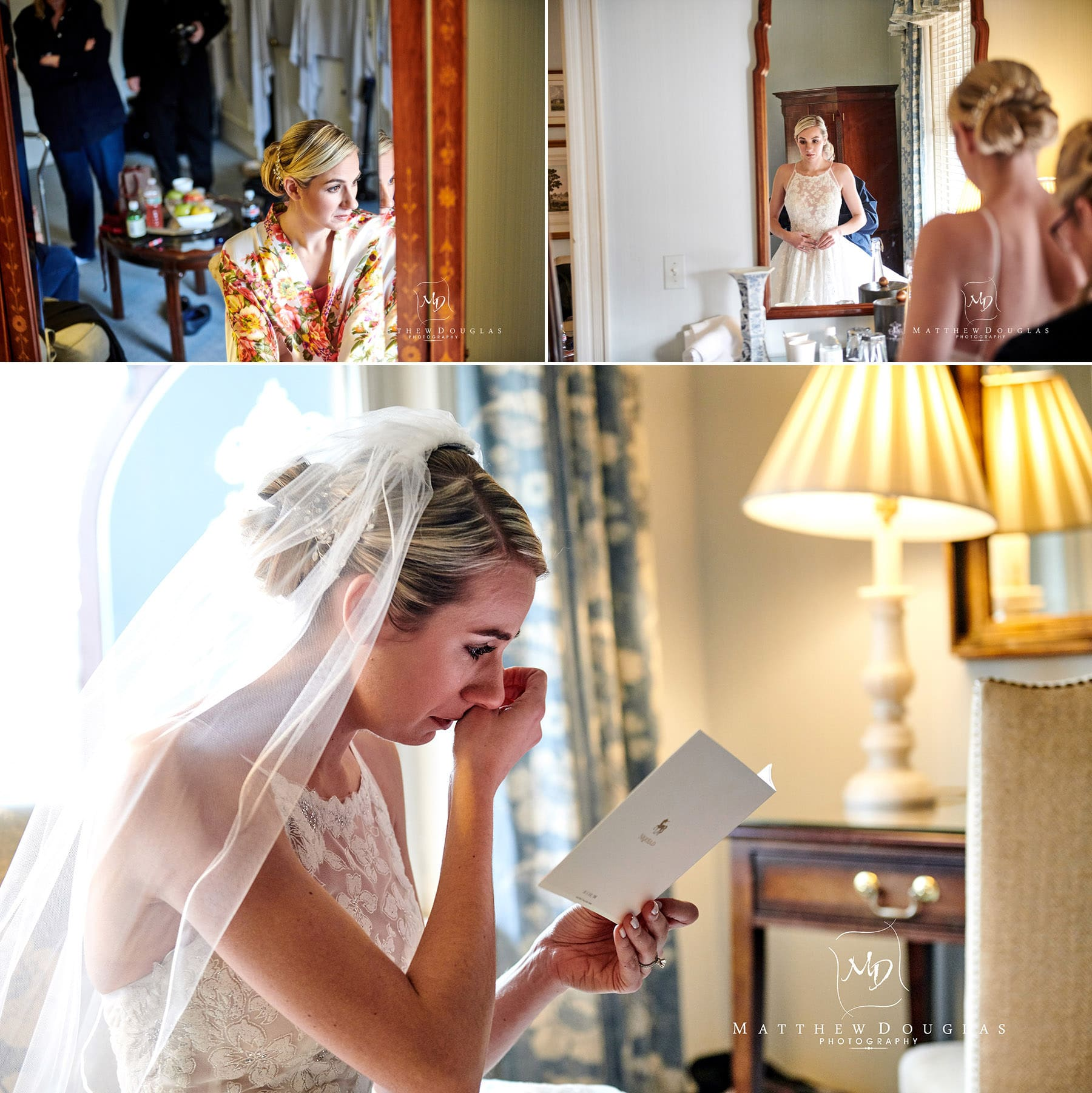 wedding prep at the bernards inn photos