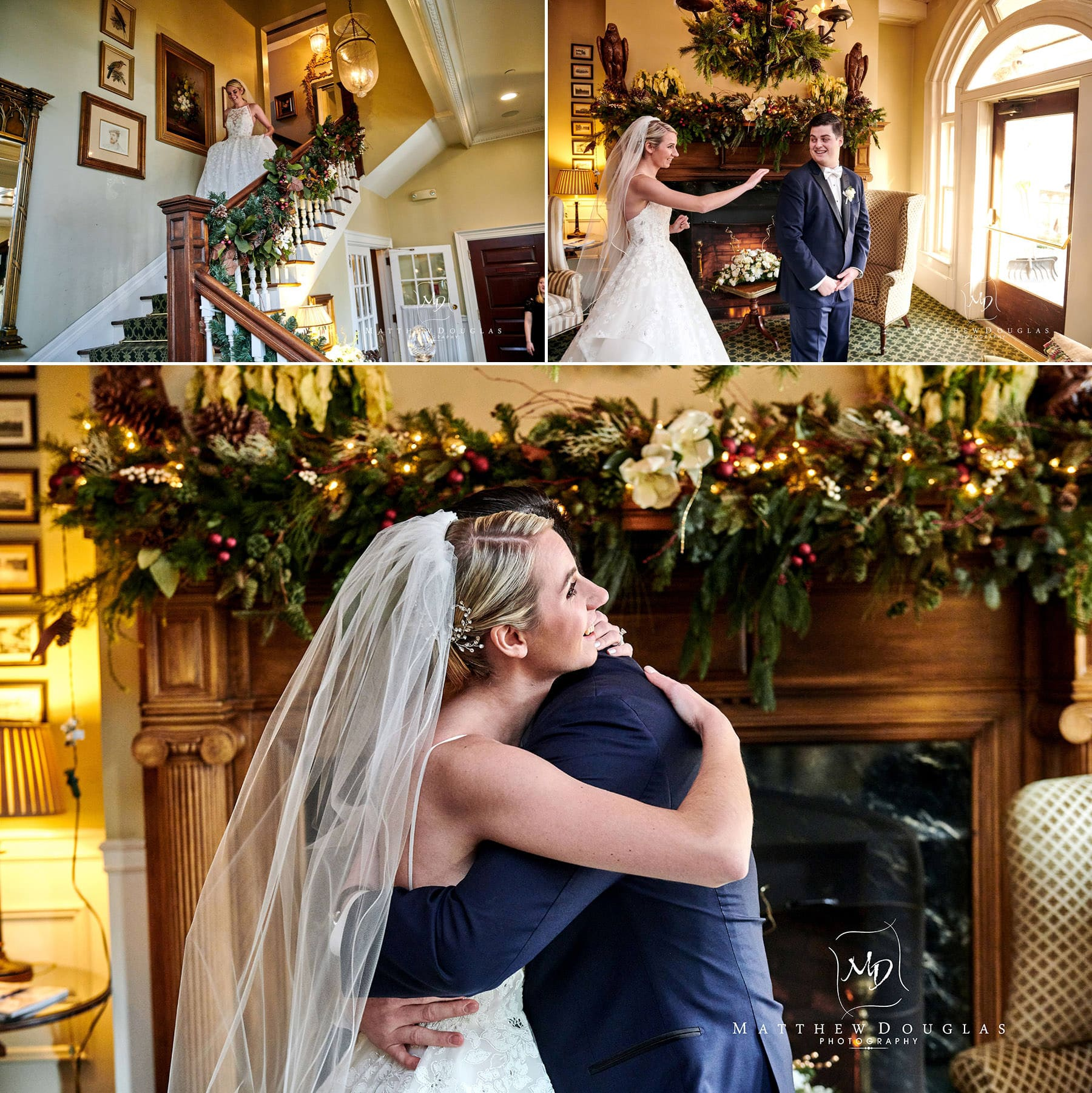 wedding first look photos at the bernards inn
