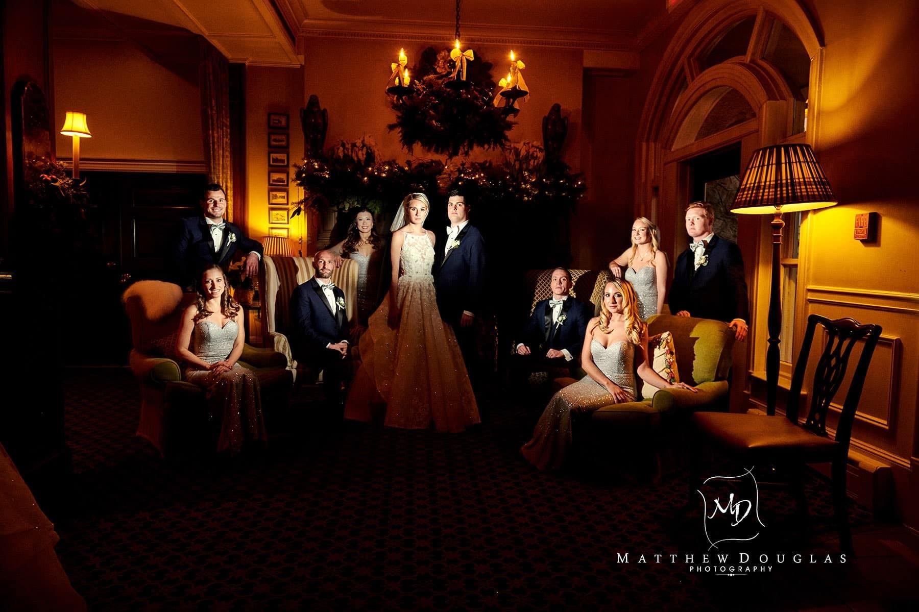 epic wedding photo at the bernards inn