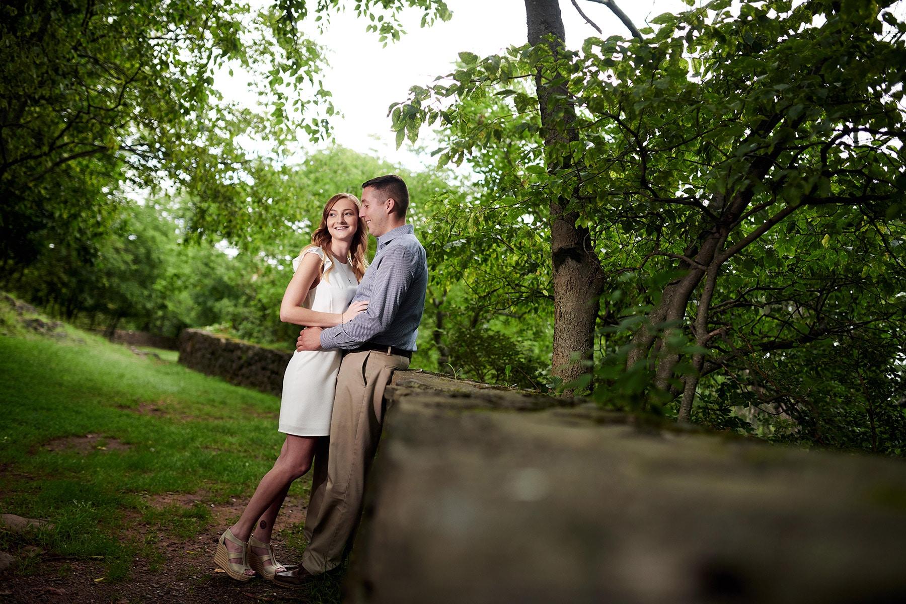 garrett mountain engagement photo