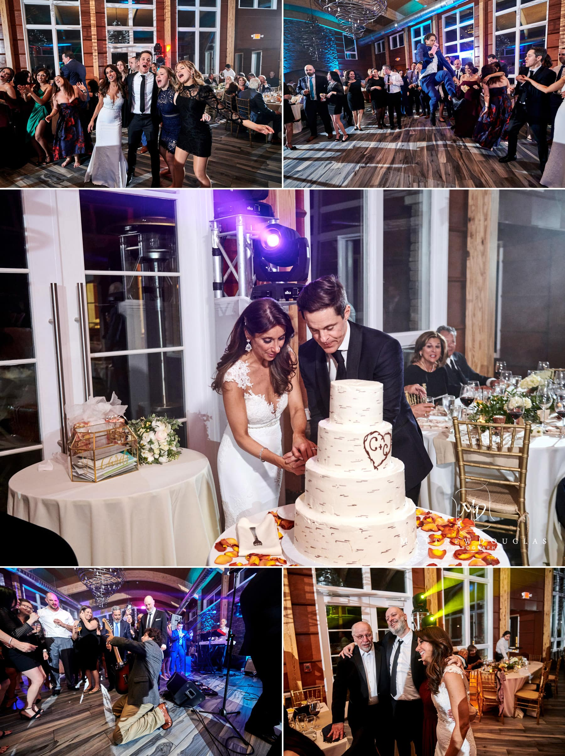 lodge at stone house at sterling ridge wedding reception photos